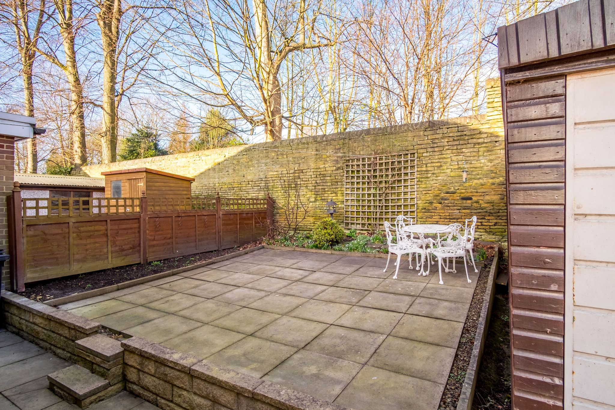 3 bedroom semi-detached house For Sale in Brighouse - Rear patio