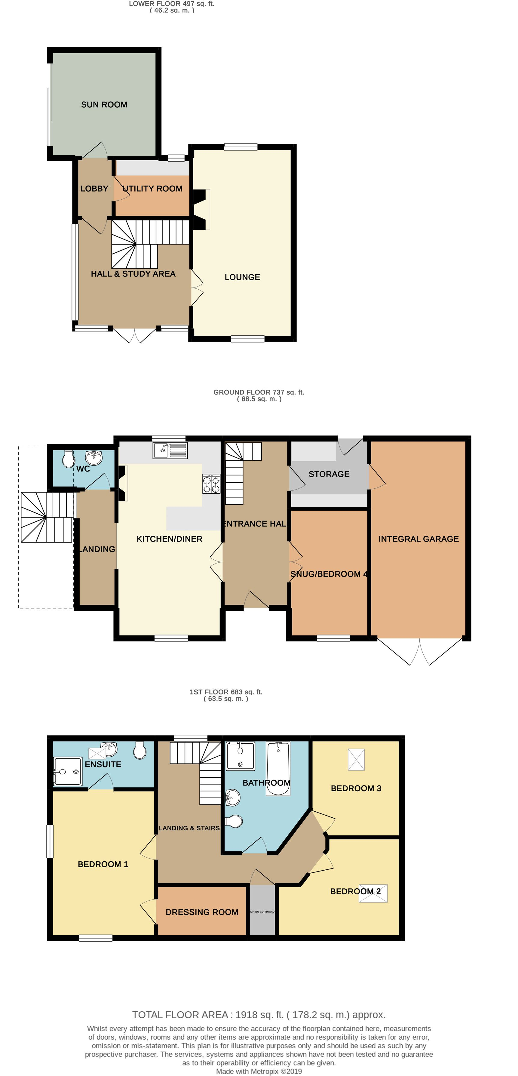 3 bedroom detached house SSTC in Brighouse - Floorplan 1