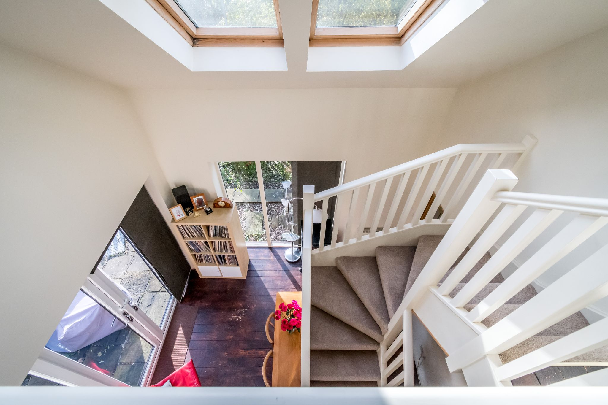 3 bedroom detached house SSTC in Brighouse - Looking over the banister from the ground floor landing