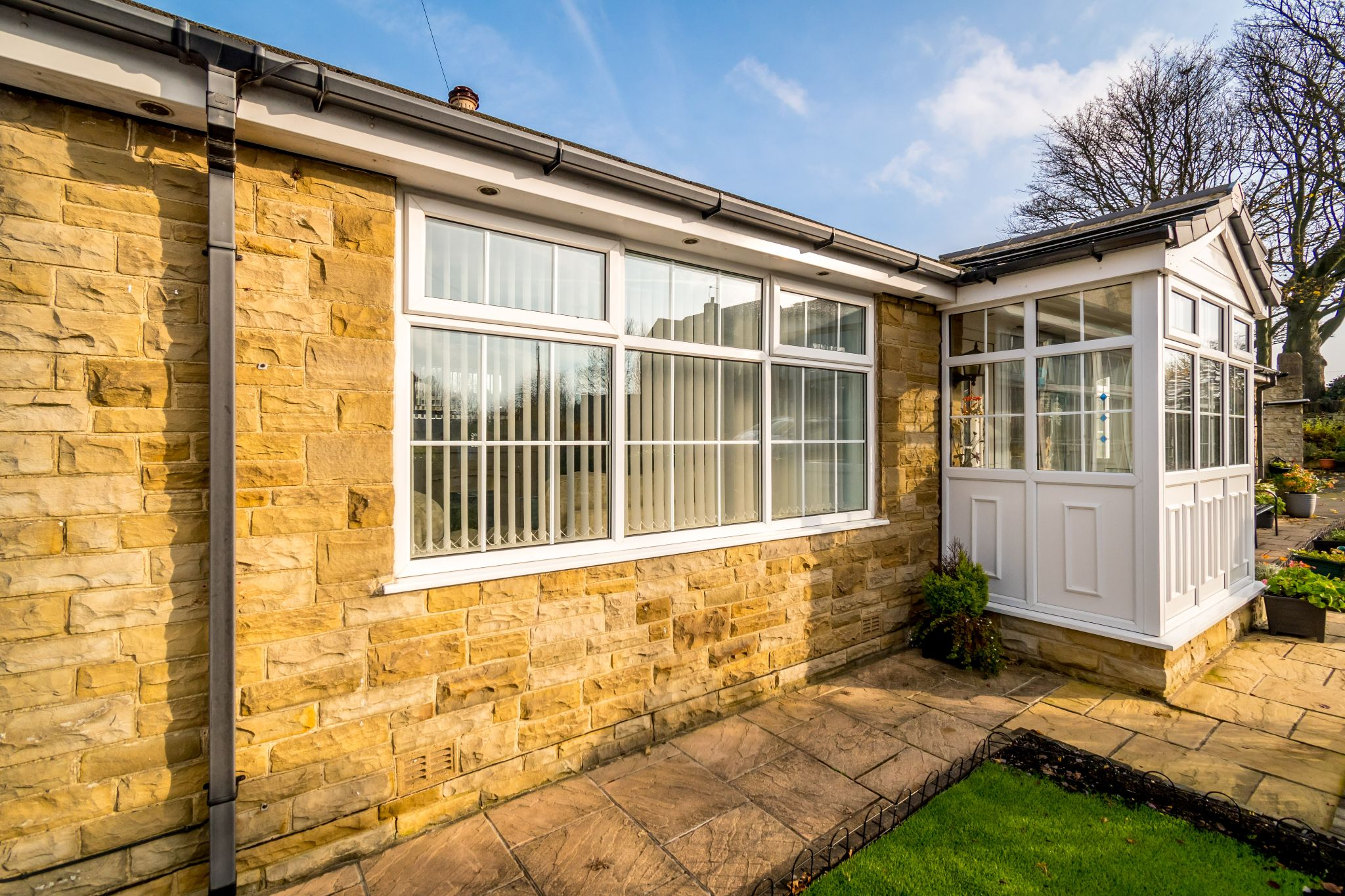 3 bedroom detached bungalow For Sale in Hove Edge - Left side of the porch