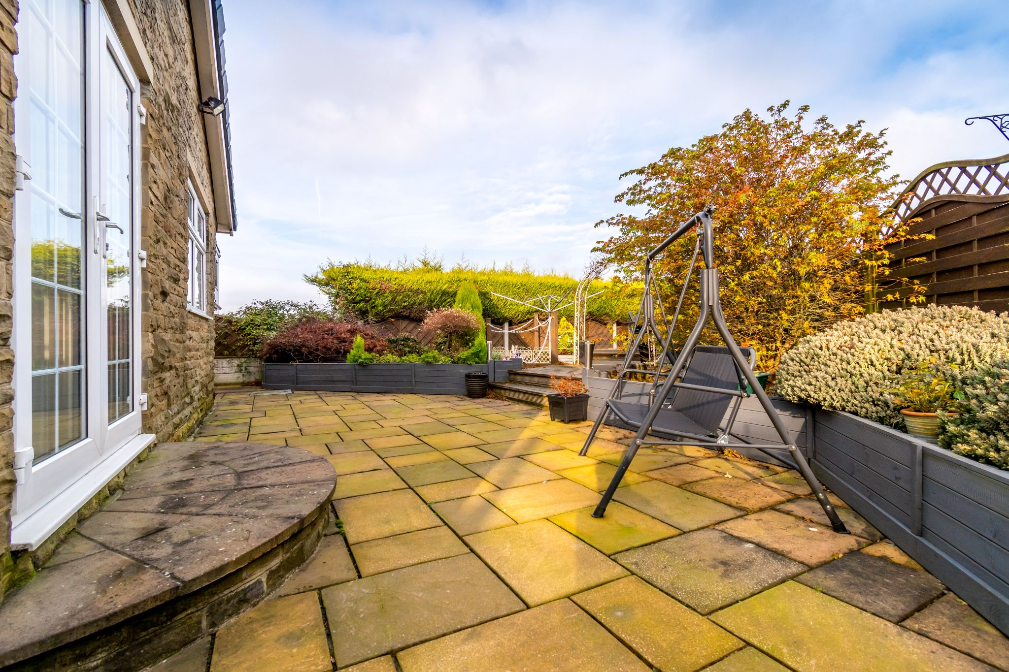 3 bedroom detached bungalow For Sale in Hove Edge - Rear patio