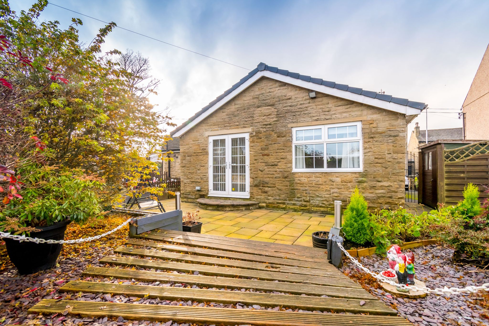 3 bedroom detached bungalow For Sale in Hove Edge - View from the decking