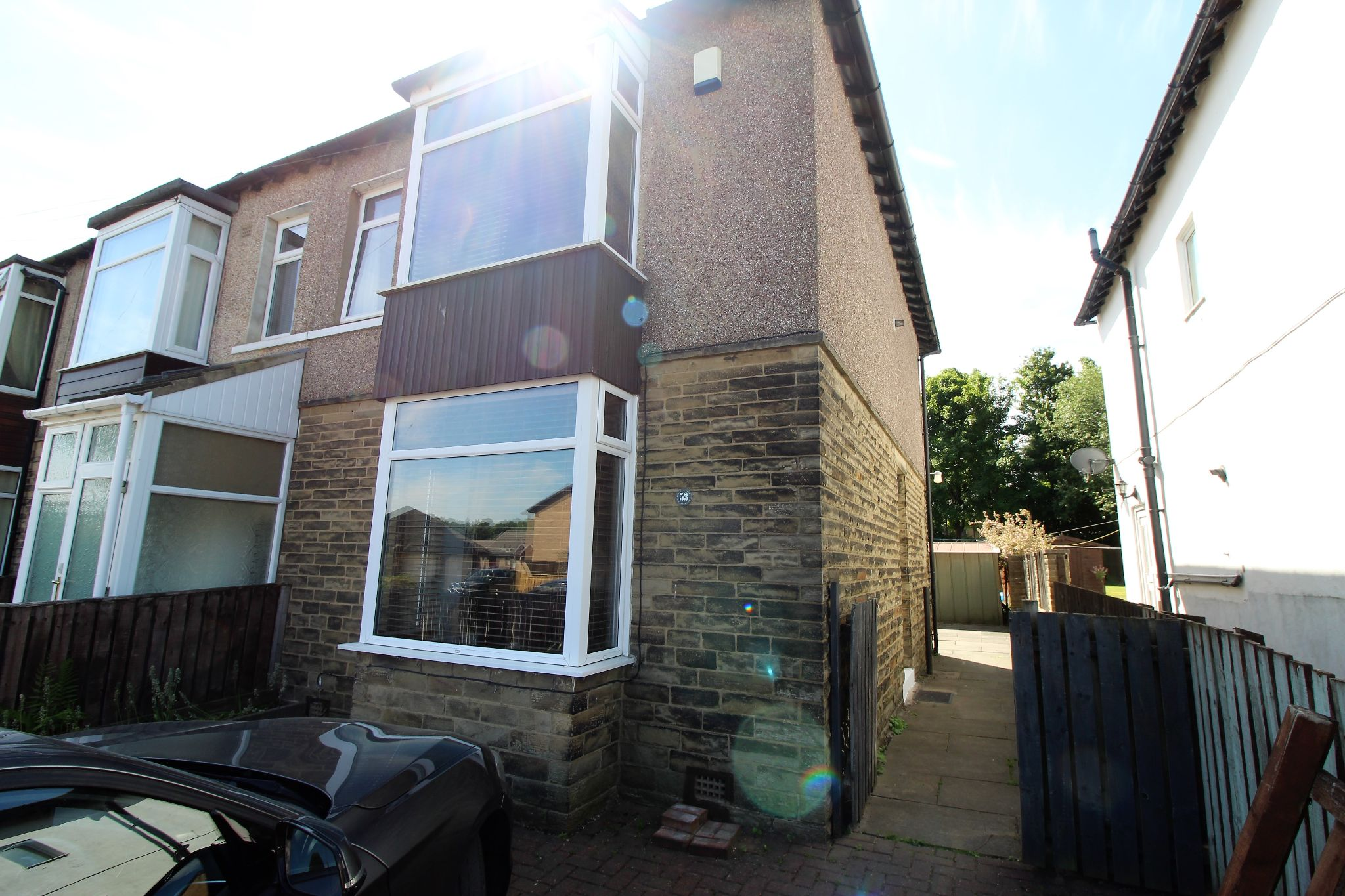 3 bedroom end terraced house To Let in Brighouse - Front elevation