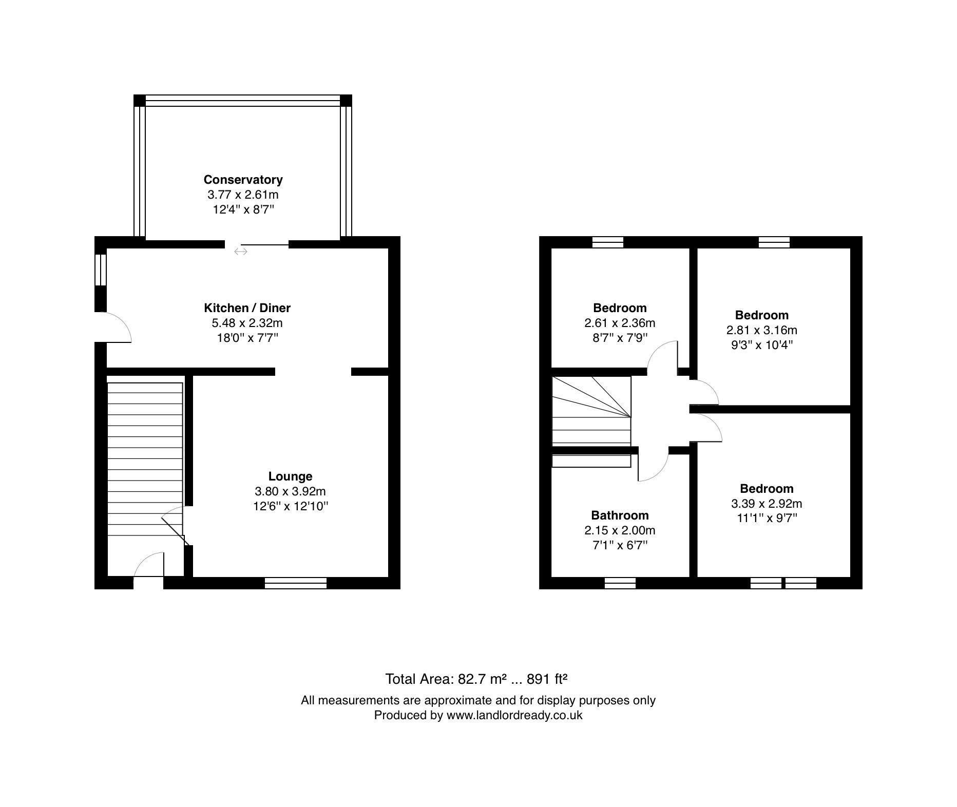 3 bedroom semi-detached house in Bradford - Floorplan 1.