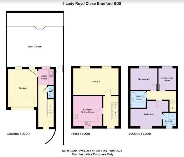 3 bedroom end terraced house For Sale in Bradford - Floorplan 1.