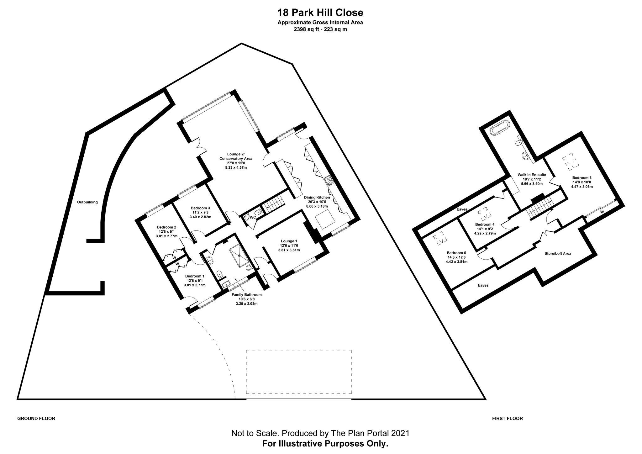 6 bedroom detached bungalow For Sale in Bradford - Floorplan 1.