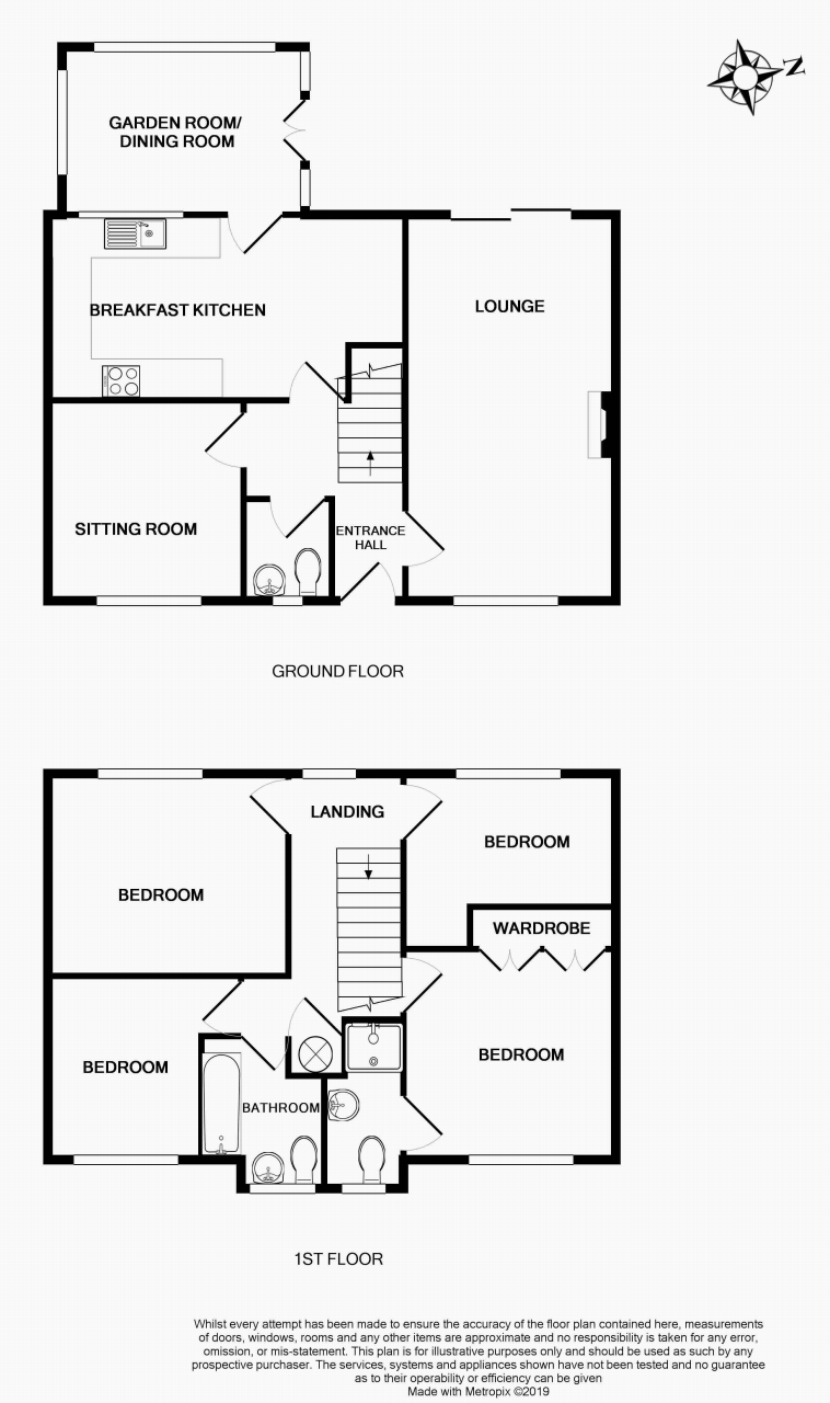 4 bedroom detached house For Sale in Brighouse - Floorplan 1.