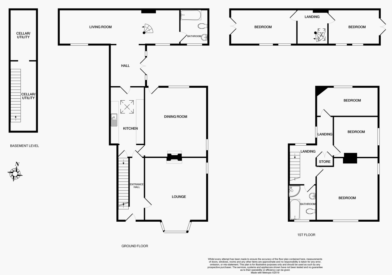 5 bedroom semi-detached house For Sale in Halilfax - Floorplan 1.