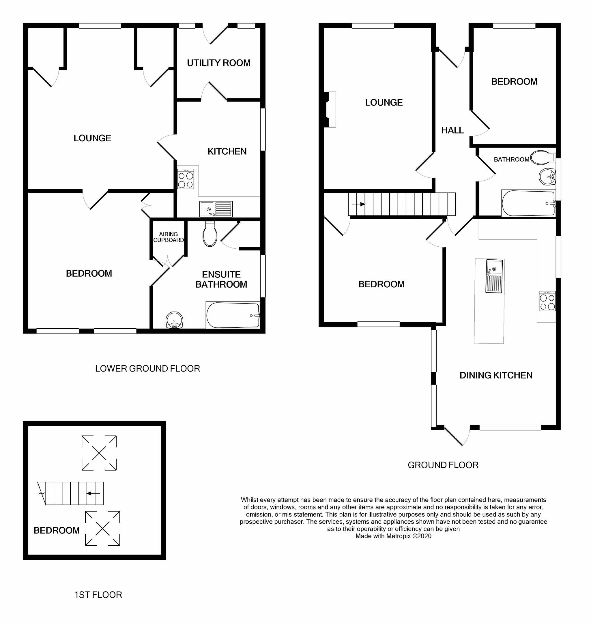 4 bedroom semi-detached house SSTC in Brighouse - Floorplan.