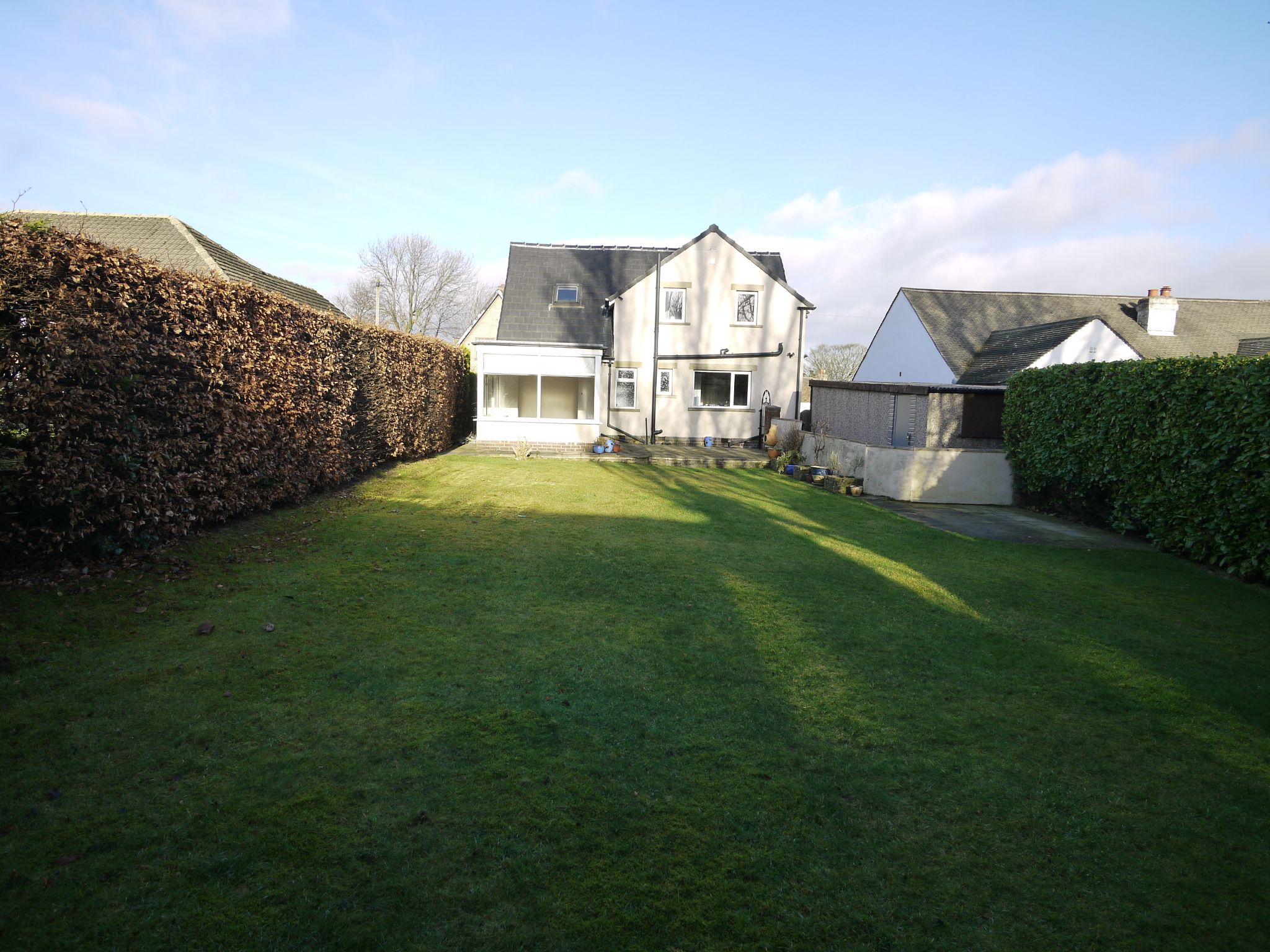 5 bedroom detached bungalow For Sale in Brighouse - rear garden.
