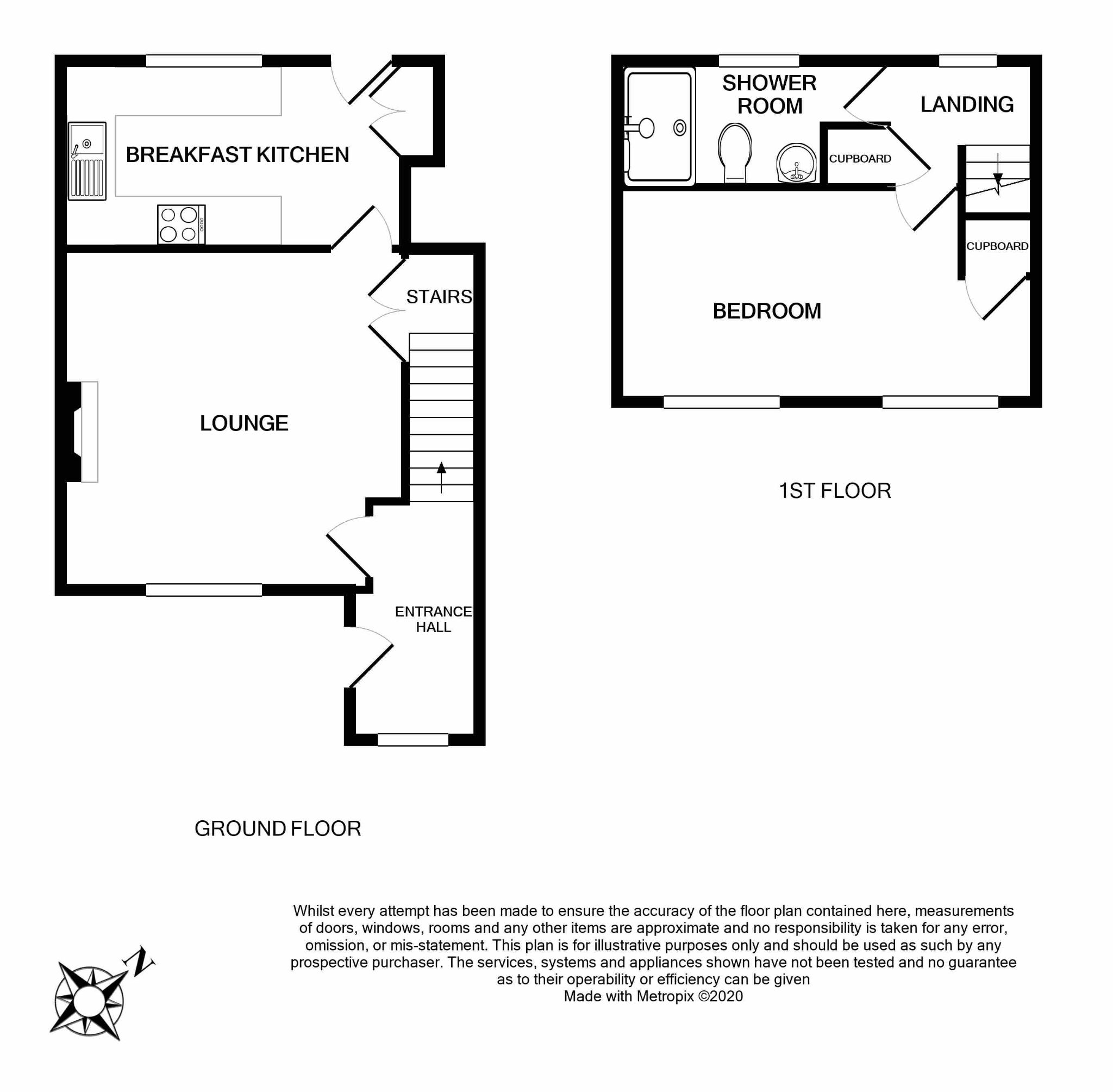 1 bedroom detached house For Sale in Brighouse - Floorplan 1.