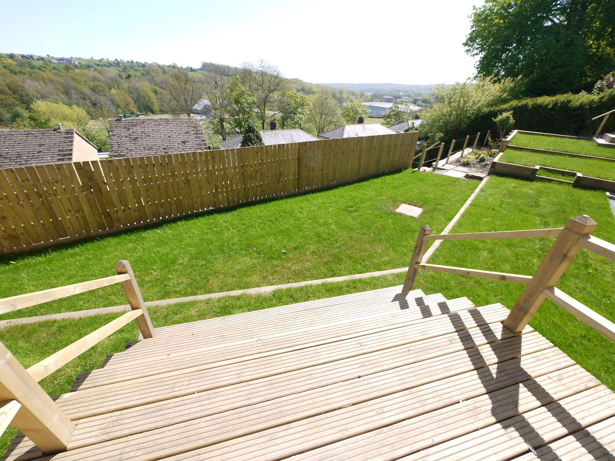 3 bedroom detached house For Sale in Brighouse - Garden & view.