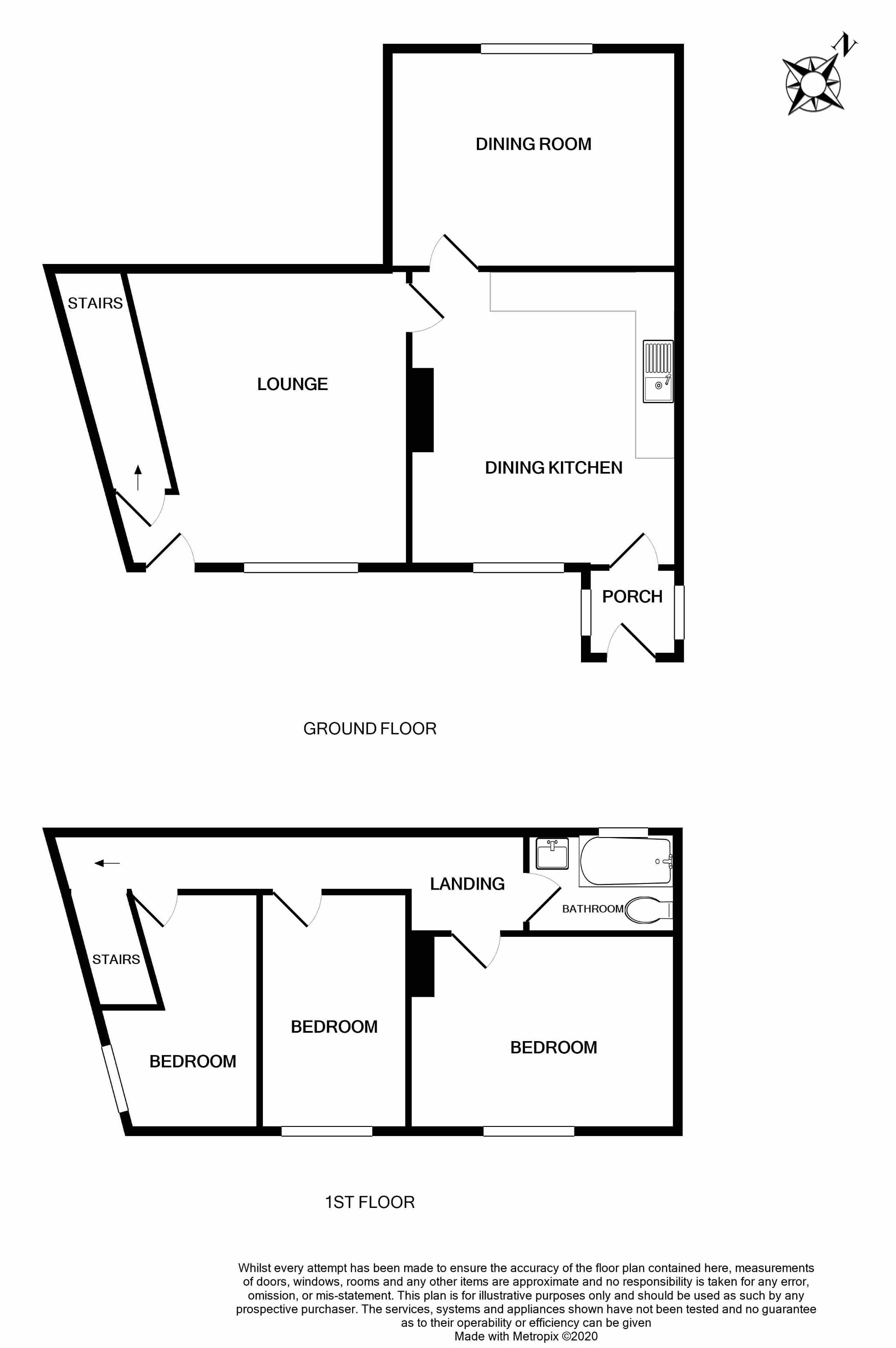 3 bedroom detached house For Sale in Brighouse - Floorplan 1.