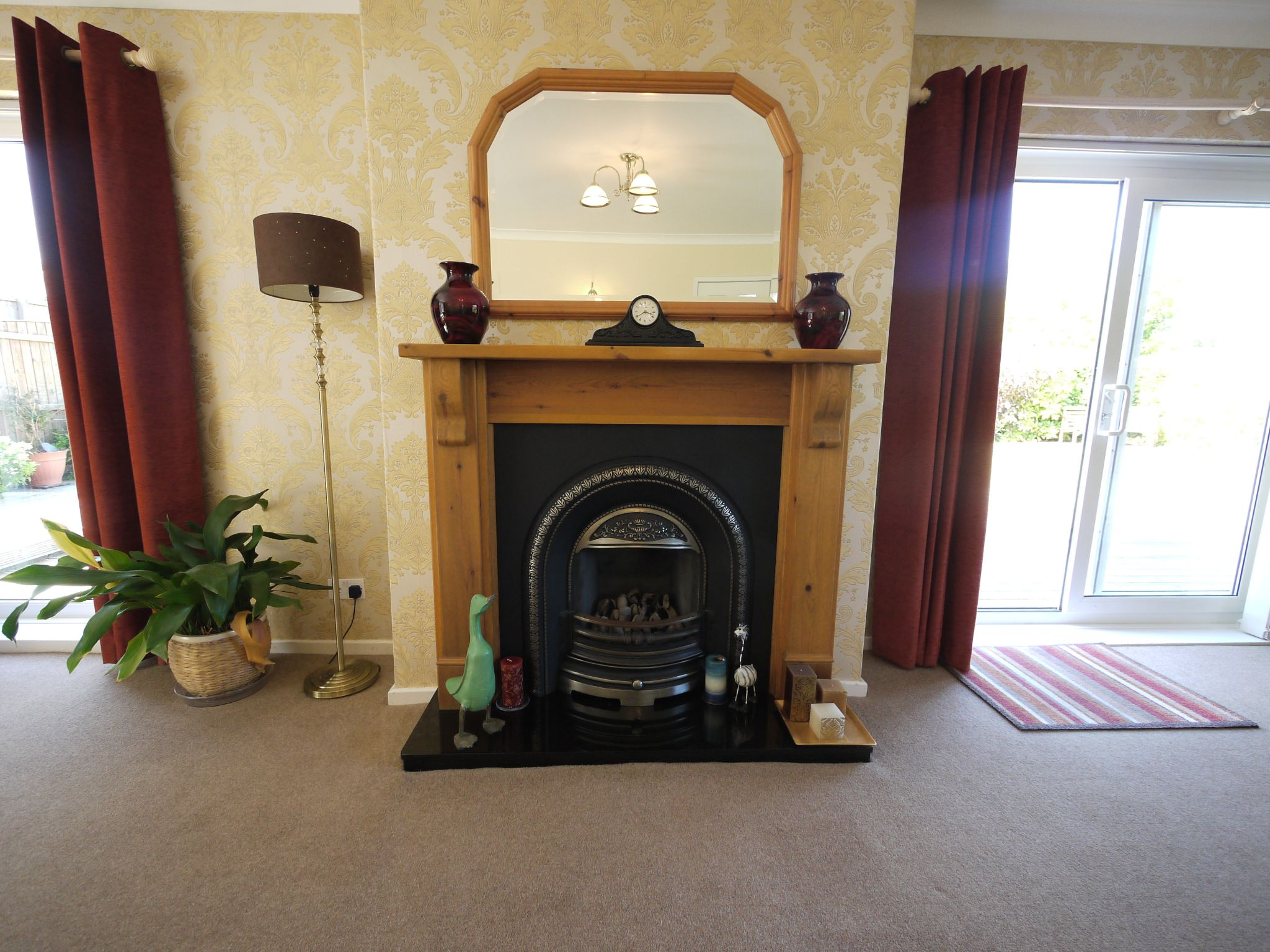 5 bedroom detached house SSTC in Brighouse - Lounge fireplace.