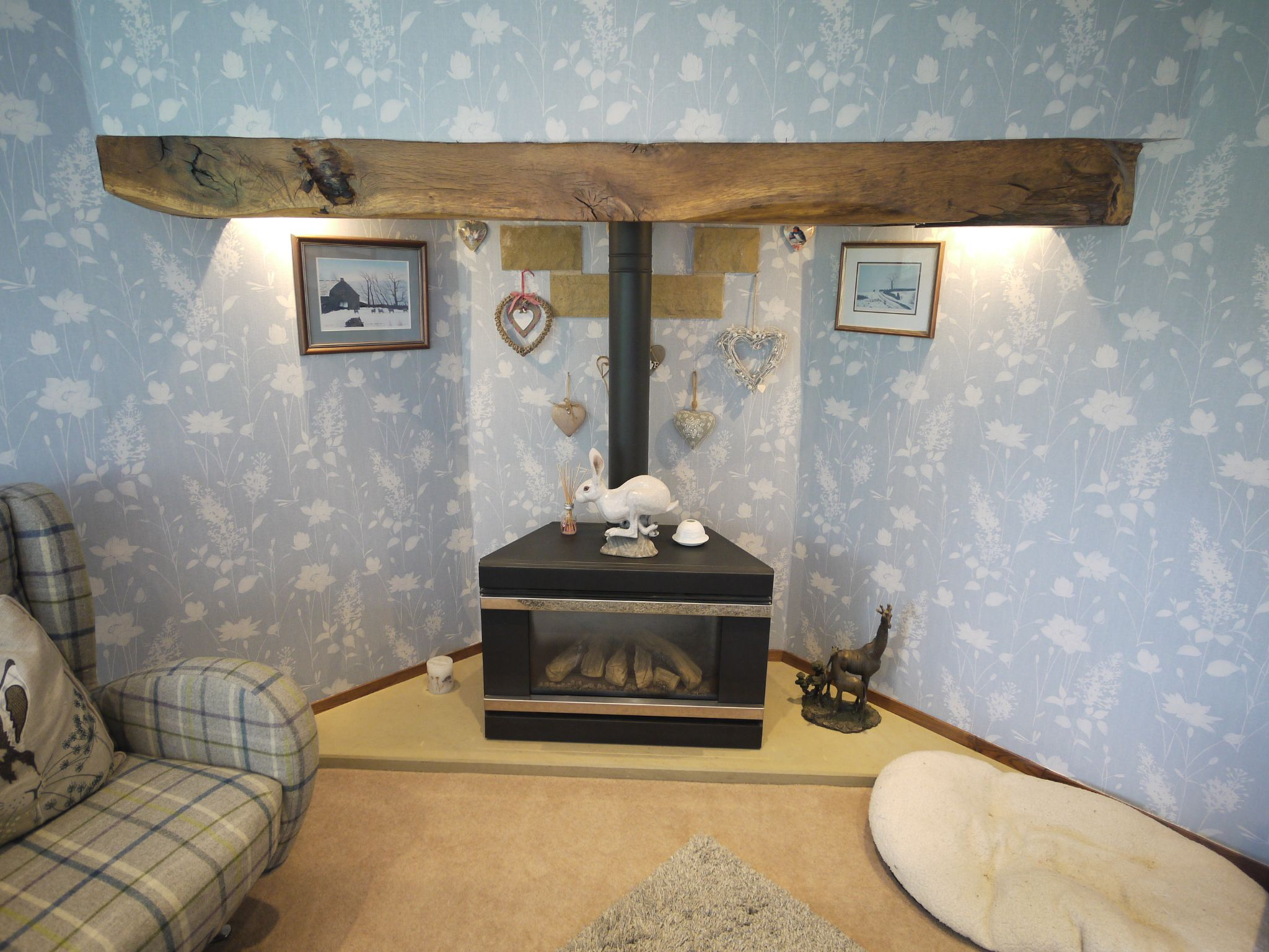 4 bedroom detached house For Sale in Brighouse - fireplace.