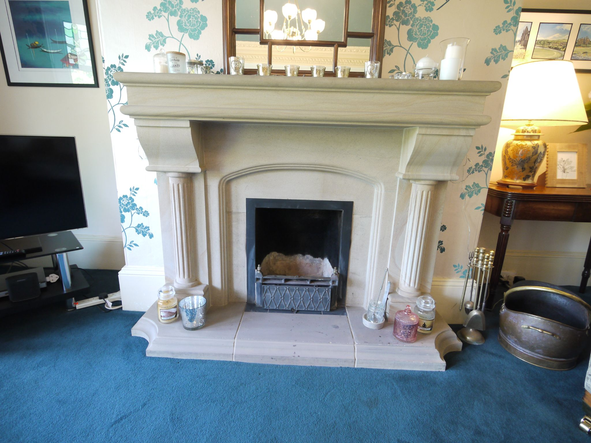 5 bedroom end terraced house Sold in Halifax - Lounge fireplace.