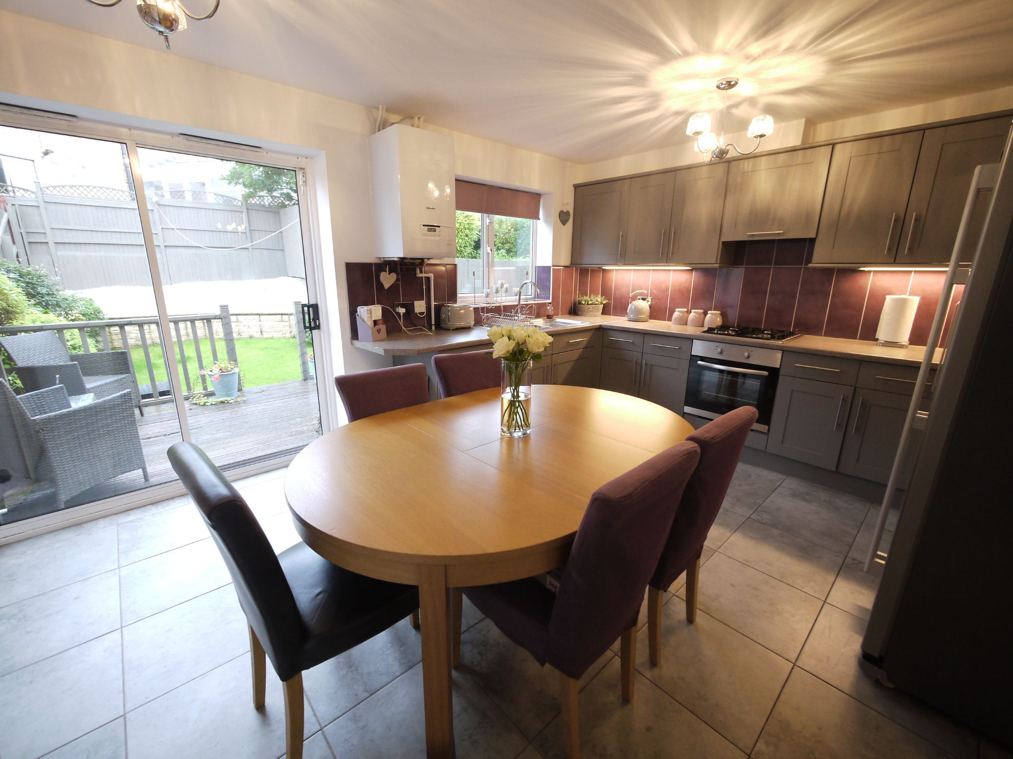 4 bedroom town house For Sale in Brighouse - Dining Kitchen.