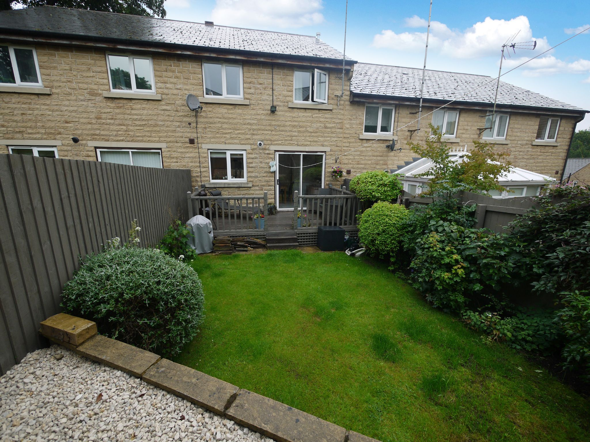 4 bedroom town house For Sale in Brighouse - Rear.