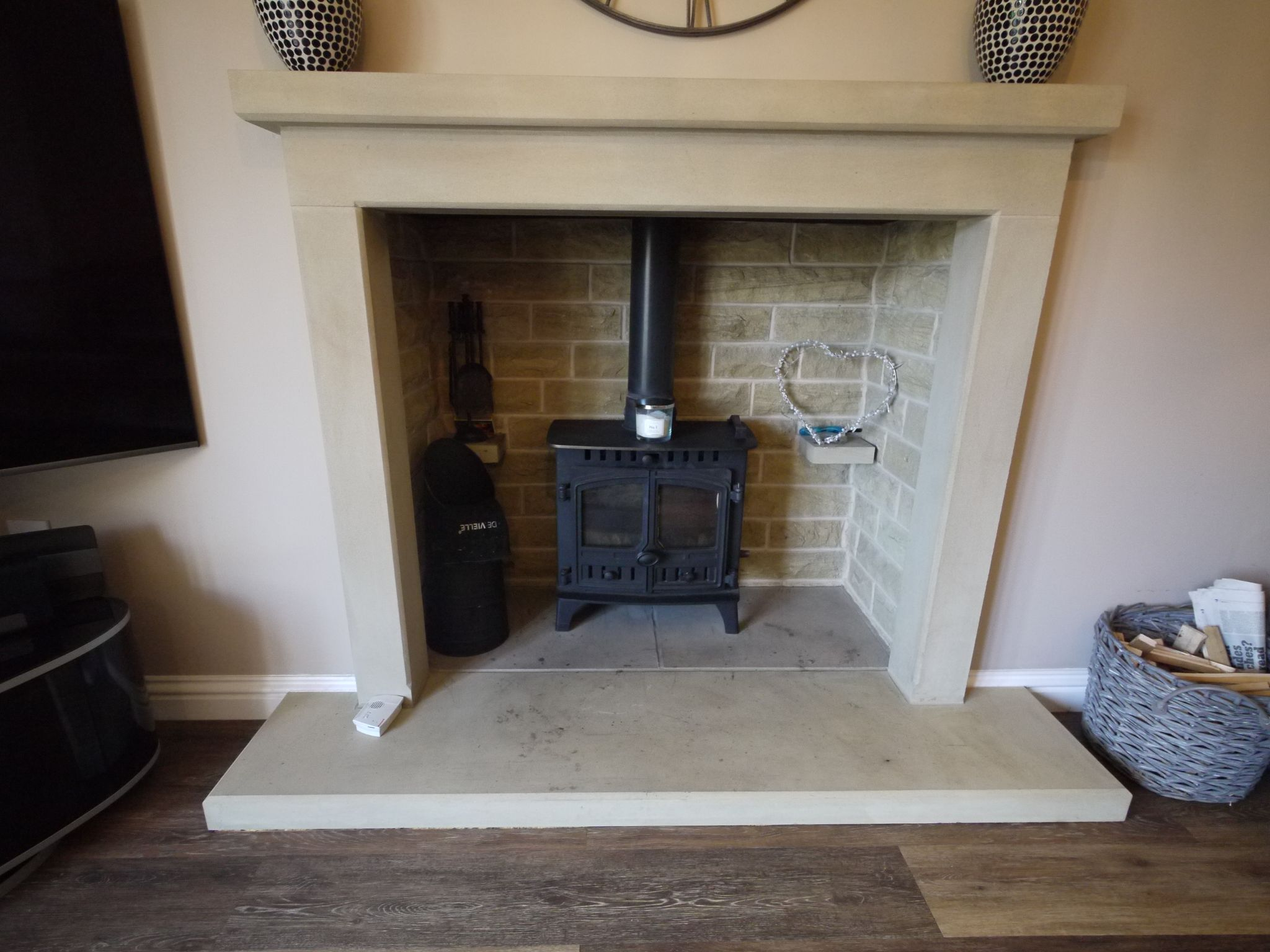 4 bedroom detached house SSTC in Halifax - Lounge fireplace.