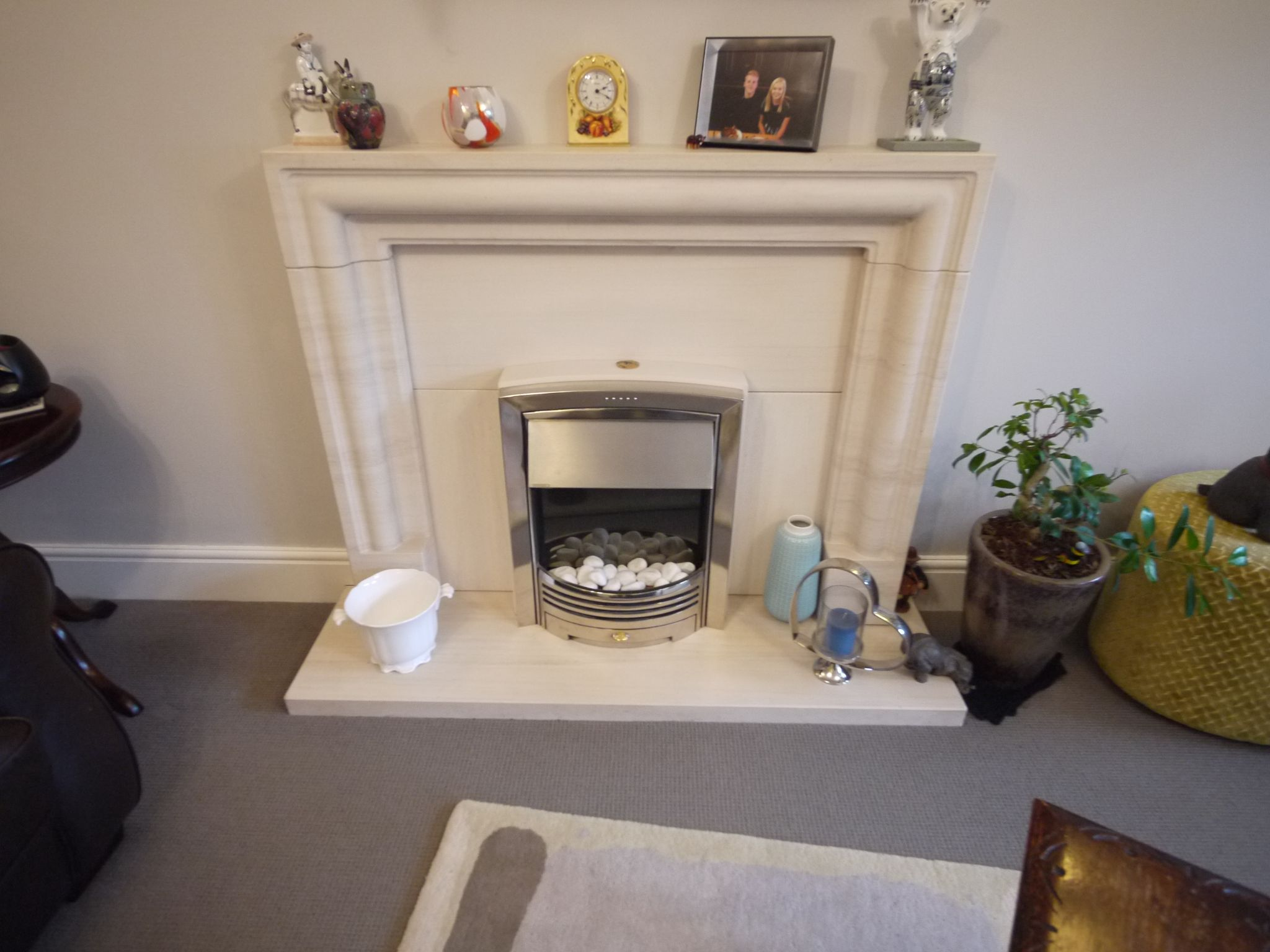 6 bedroom detached house SSTC in Halifax - Lounge fireplace.