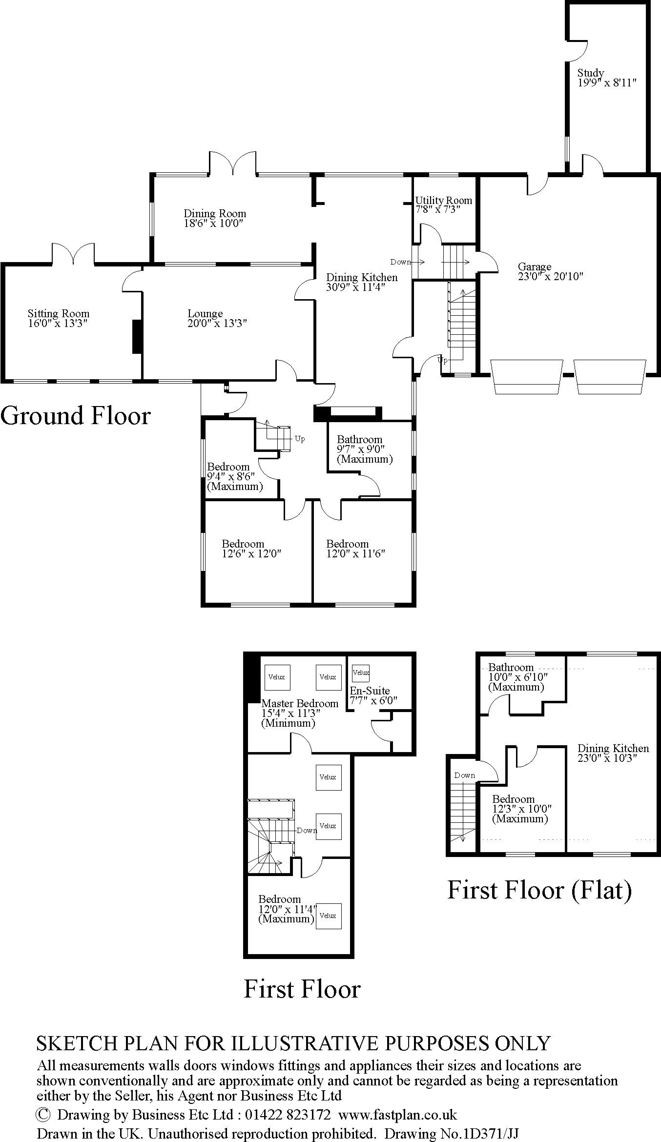6 bedroom detached house For Sale in Huddersfield - Floorplan 1.