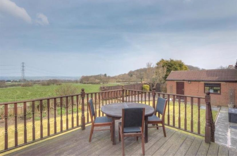 6 bedroom detached house For Sale in Huddersfield - View over the garden.