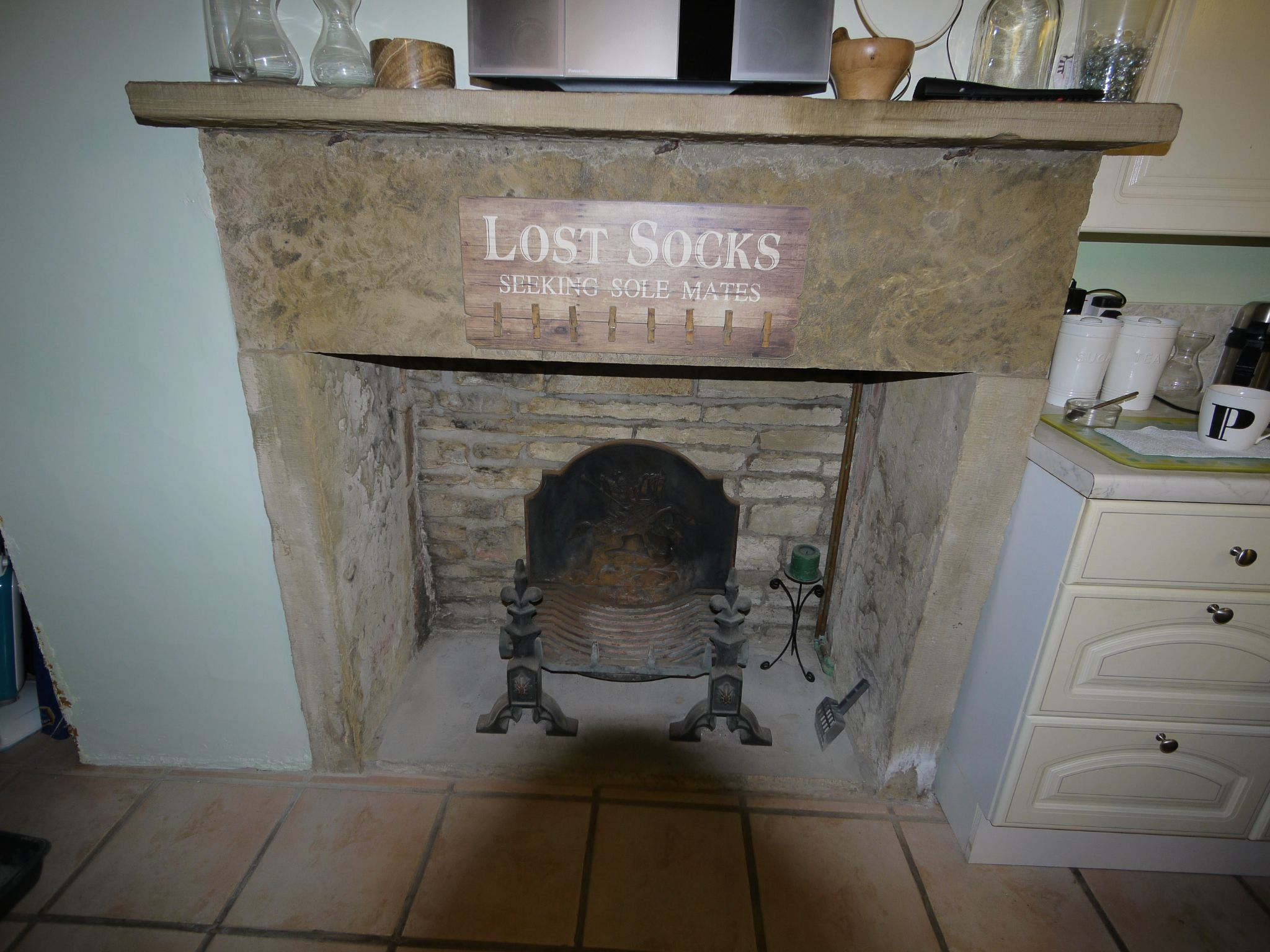 1 bedroom mid terraced house For Sale in Elland - Kitchen fireplace.
