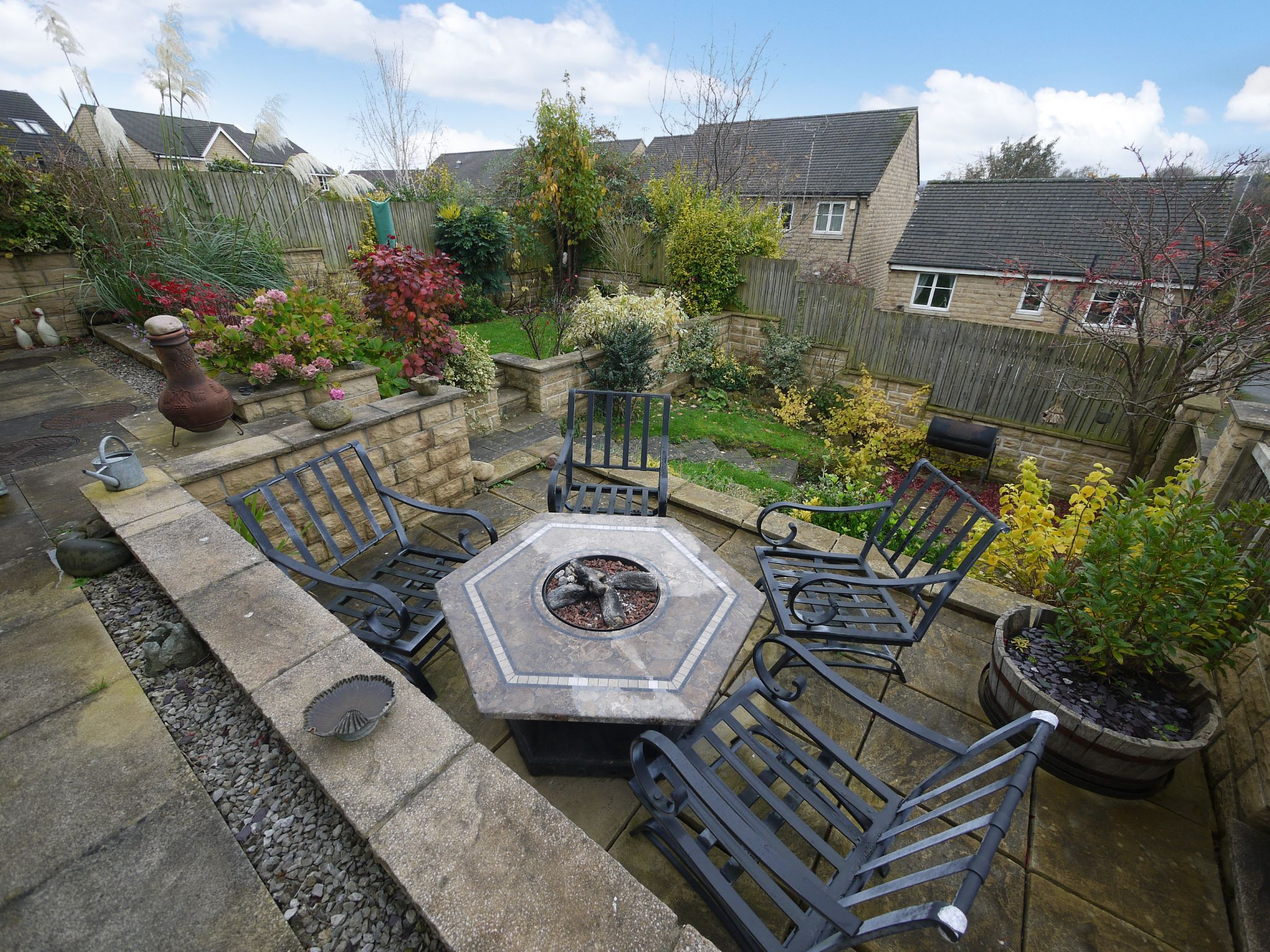 4 bedroom detached house SSTC in Brighouse - Rear garden.