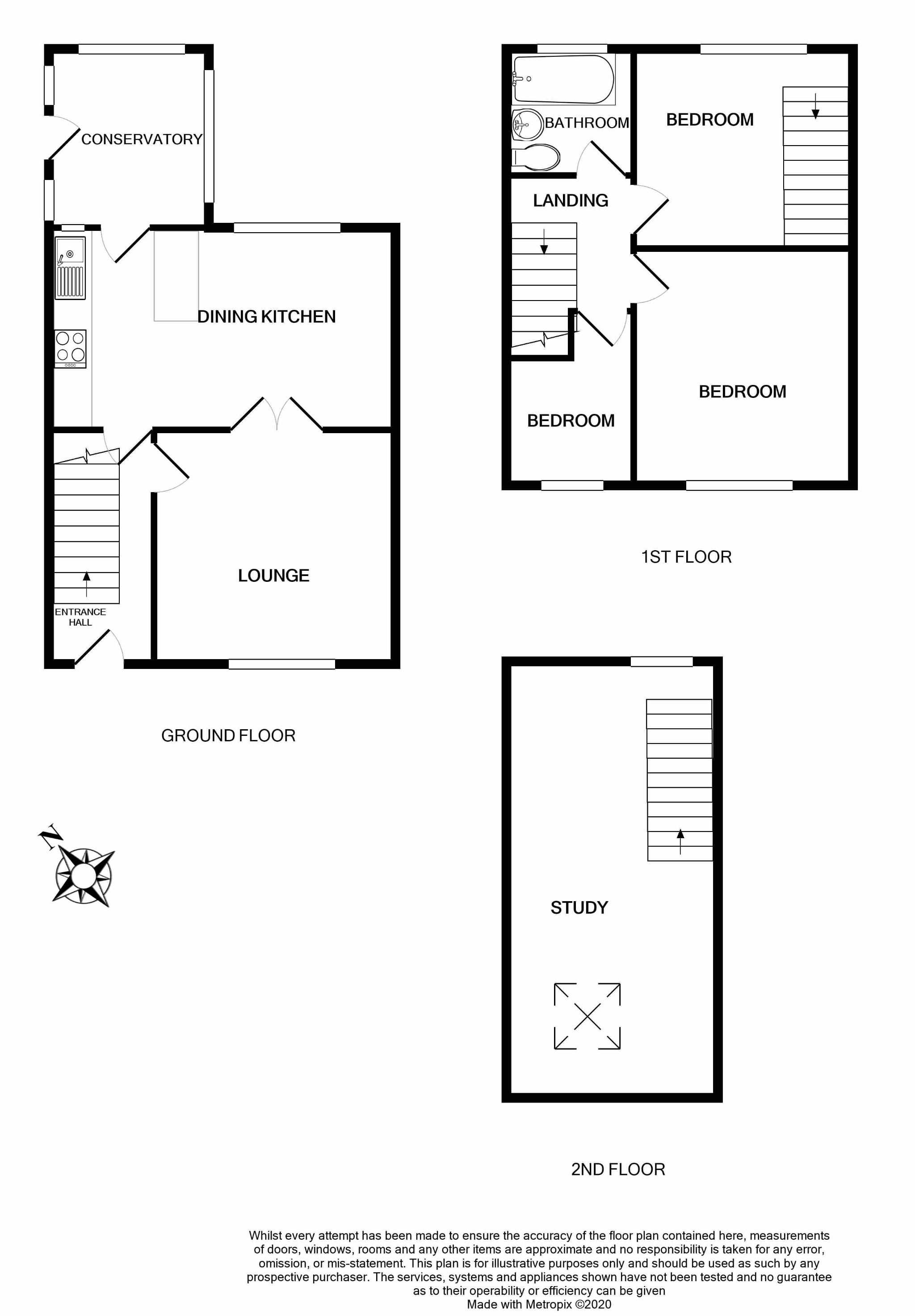 3 bedroom semi-detached house SSTC in Brighouse - Floorplan 1.