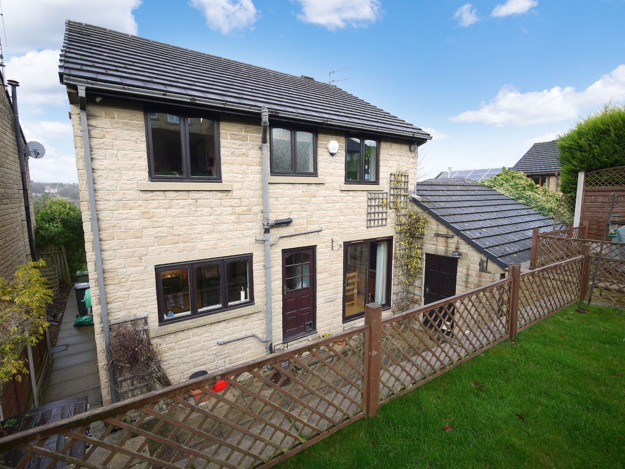 4 bedroom detached house SSTC in Brighouse - Rear.