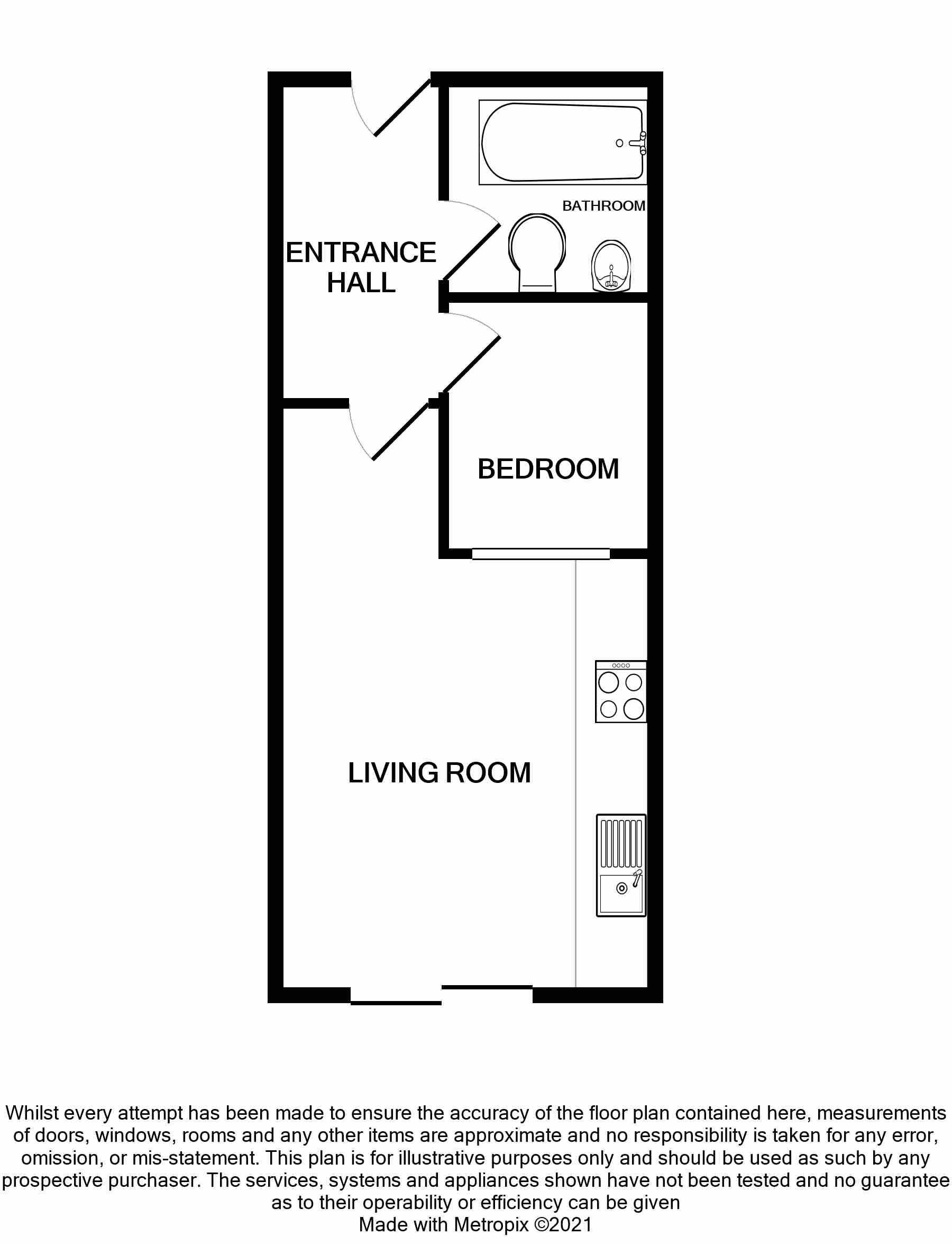 1 bedroom apartment flat/apartment SSTC in Brighouse - Floorplan 1.
