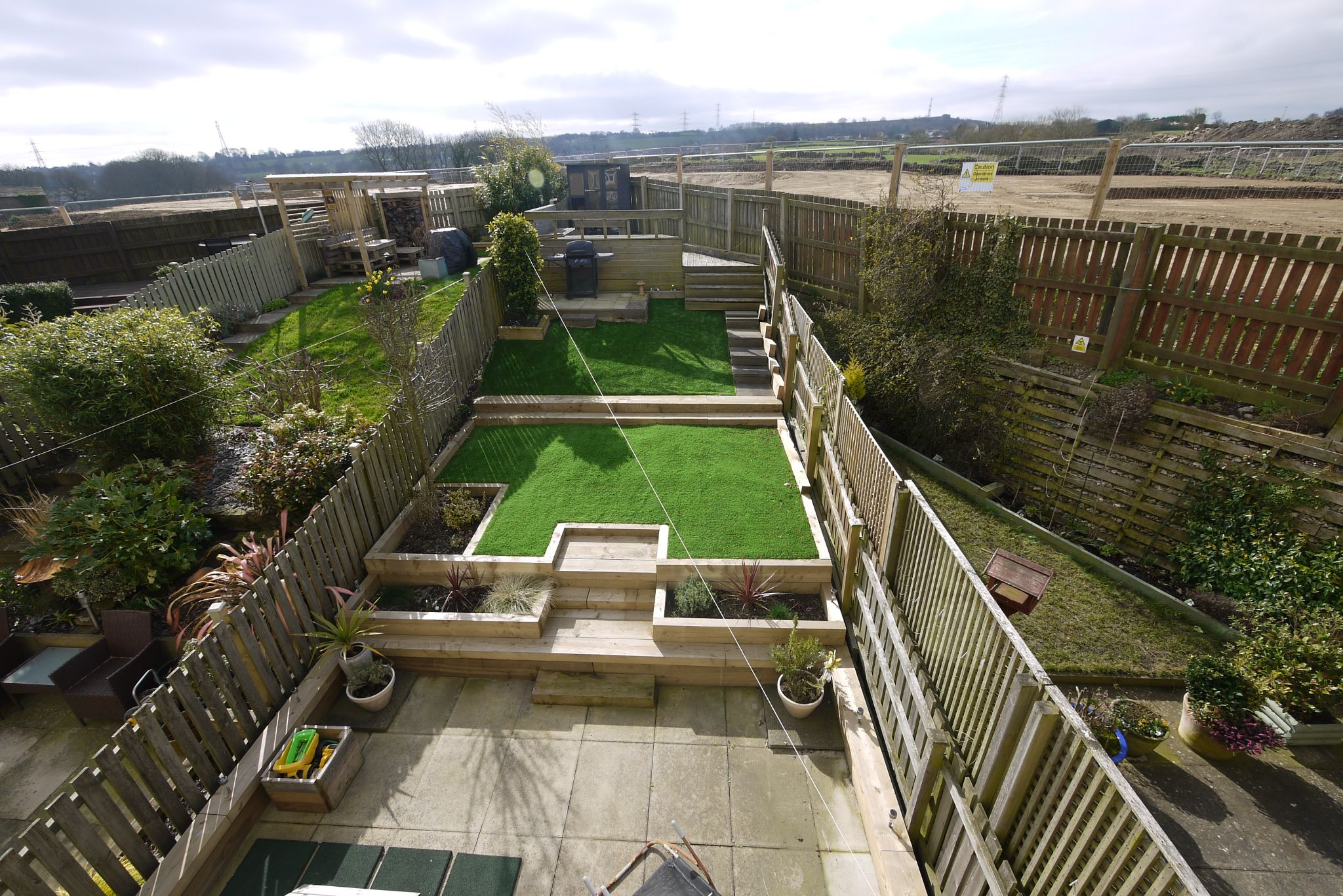 4 bedroom town house SSTC in Brighouse - Garden 2.