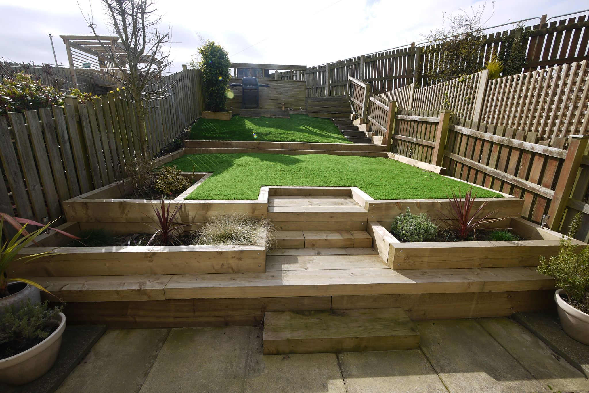 4 bedroom town house SSTC in Brighouse - Garden 1.