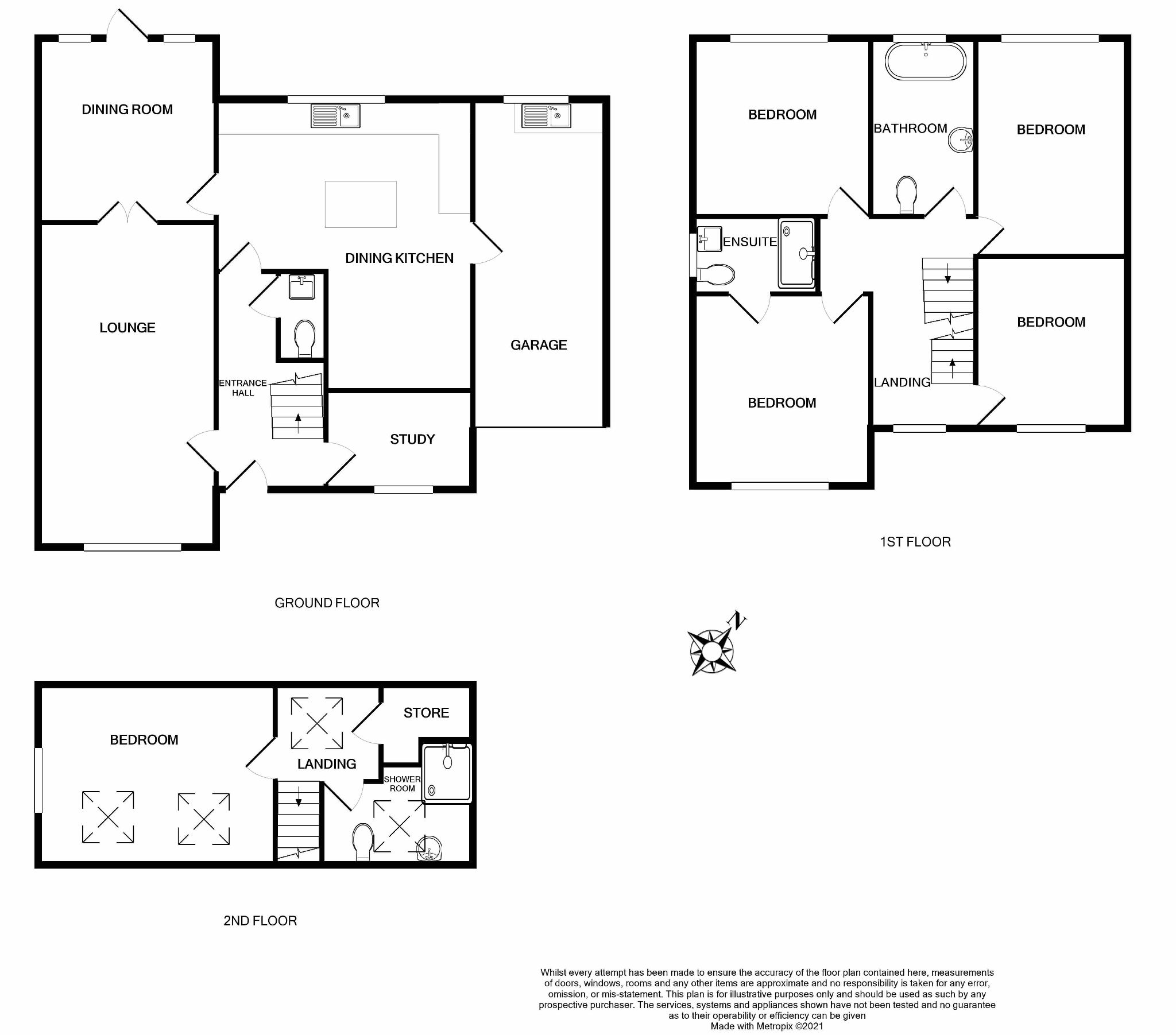 5 bedroom detached house For Sale in Brighouse - Floorplan 1.