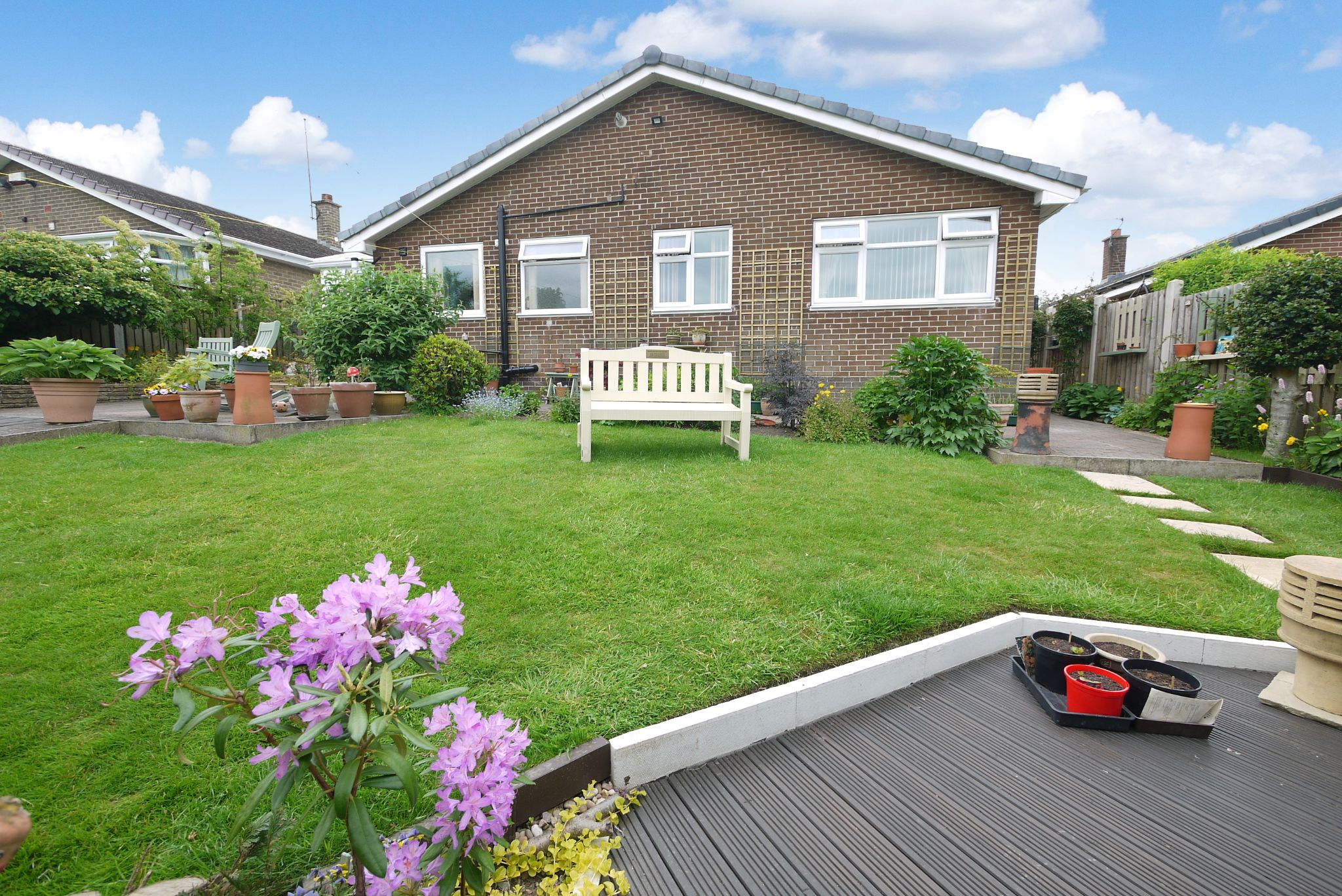 2 bedroom detached bungalow SSTC in Brighouse - Rear.