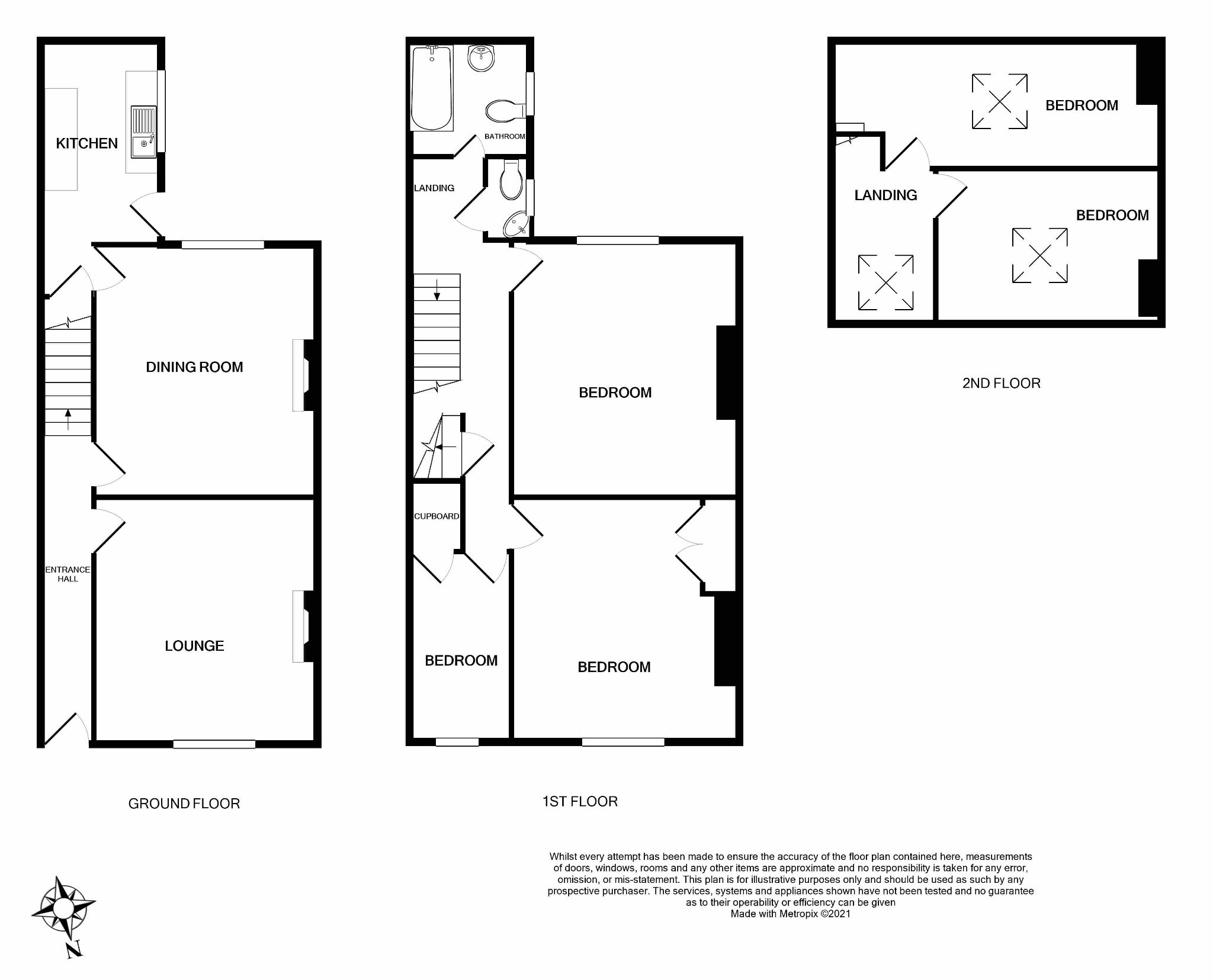 5 bedroom mid terraced house For Sale in Brighouse - Floorplan 1.