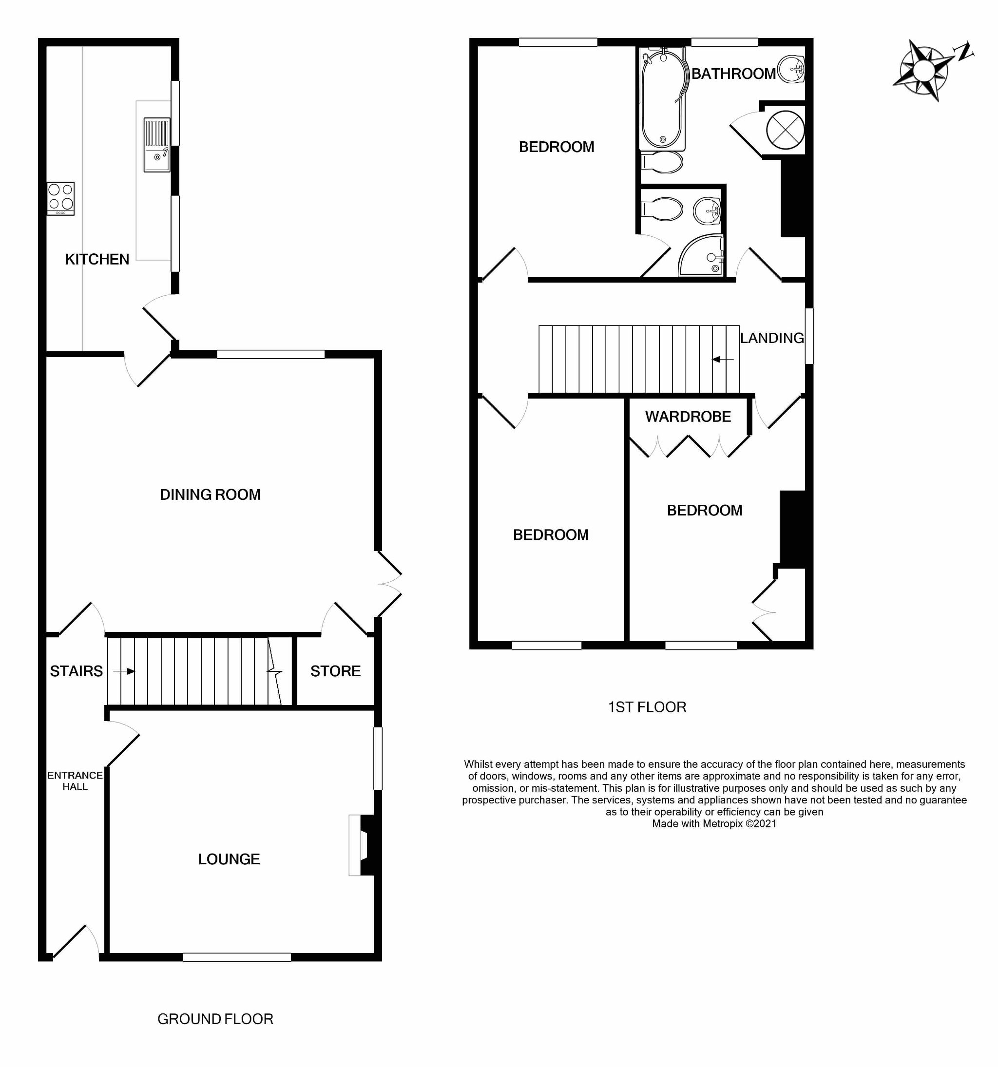 3 bedroom semi-detached house For Sale in Brighouse - Floorplan 1.