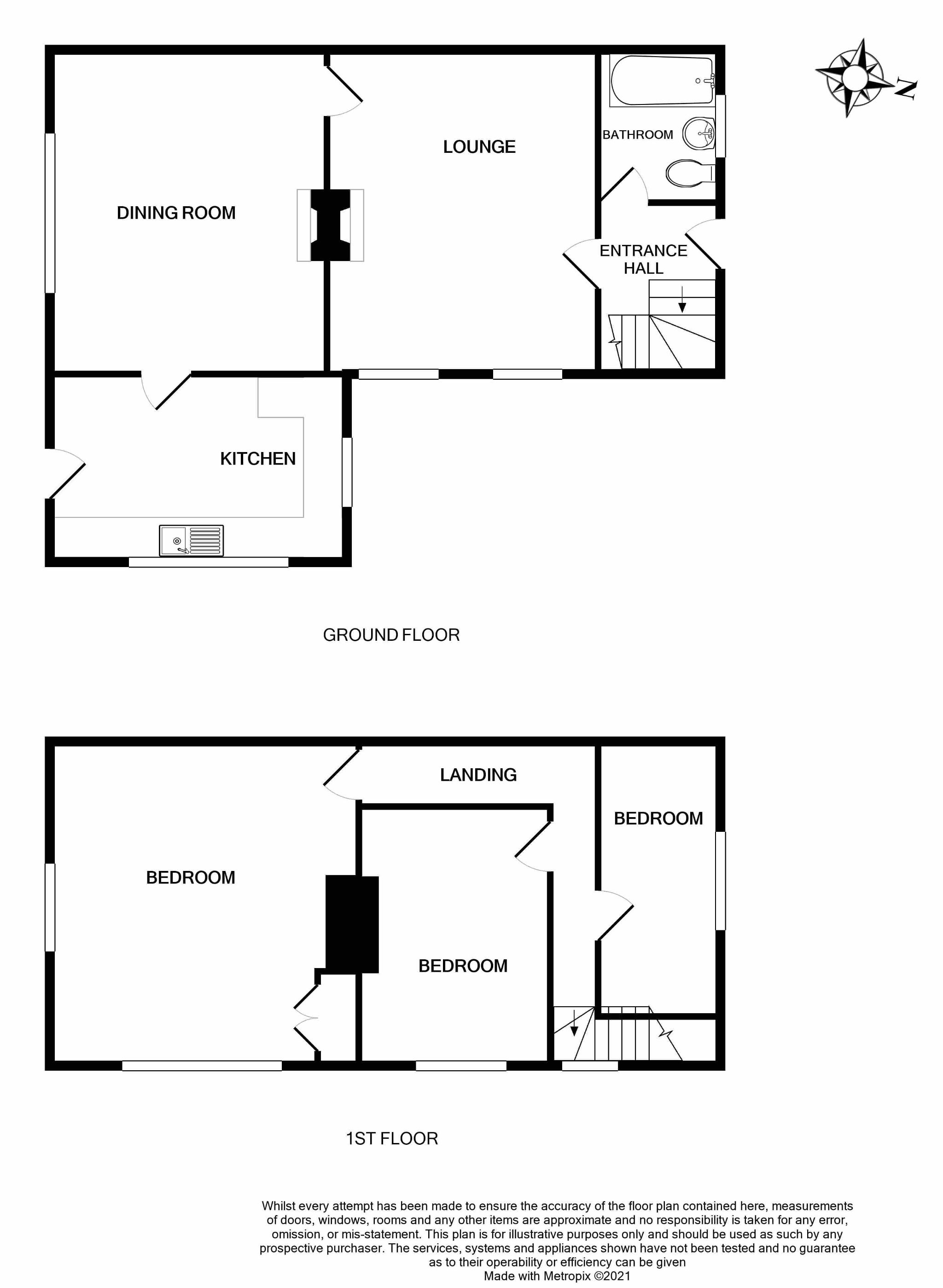 3 bedroom cottage house SSTC in Brighouse - Floorplan 1.