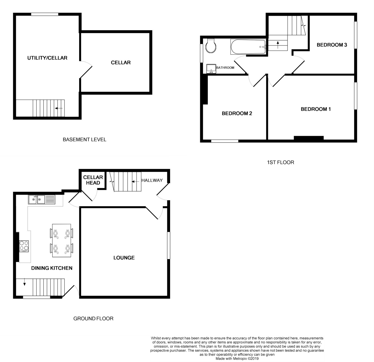 3 bedroom end terraced house SSTC in Brighouse - Floorplan 1.