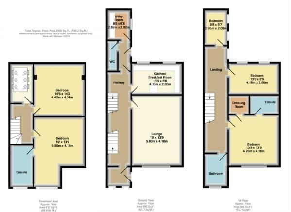 5 bedroom town house For Sale in Bolton - Floorplan 1