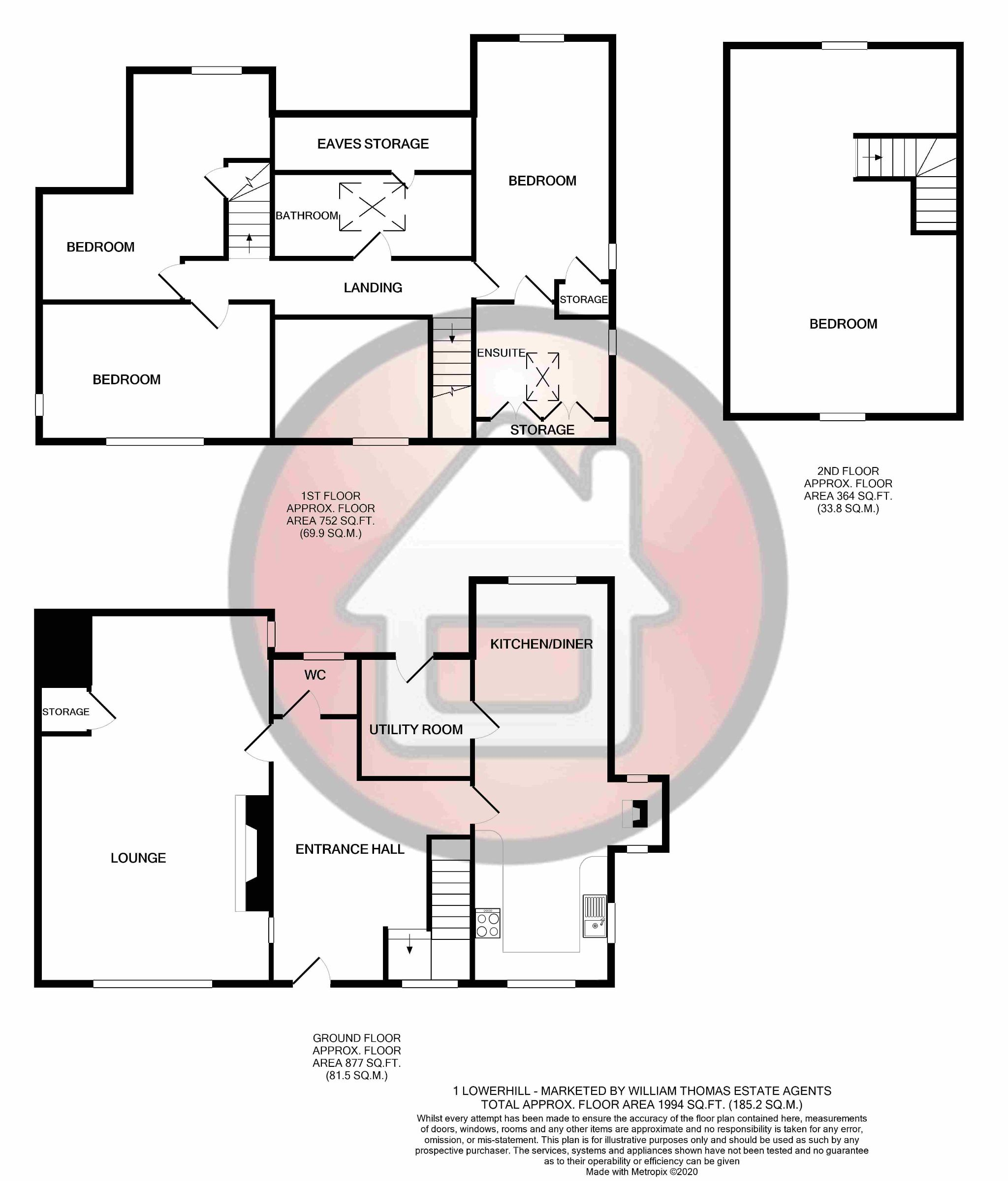 4 bedroom undefined house For Sale in Darwen - Floorplan 1