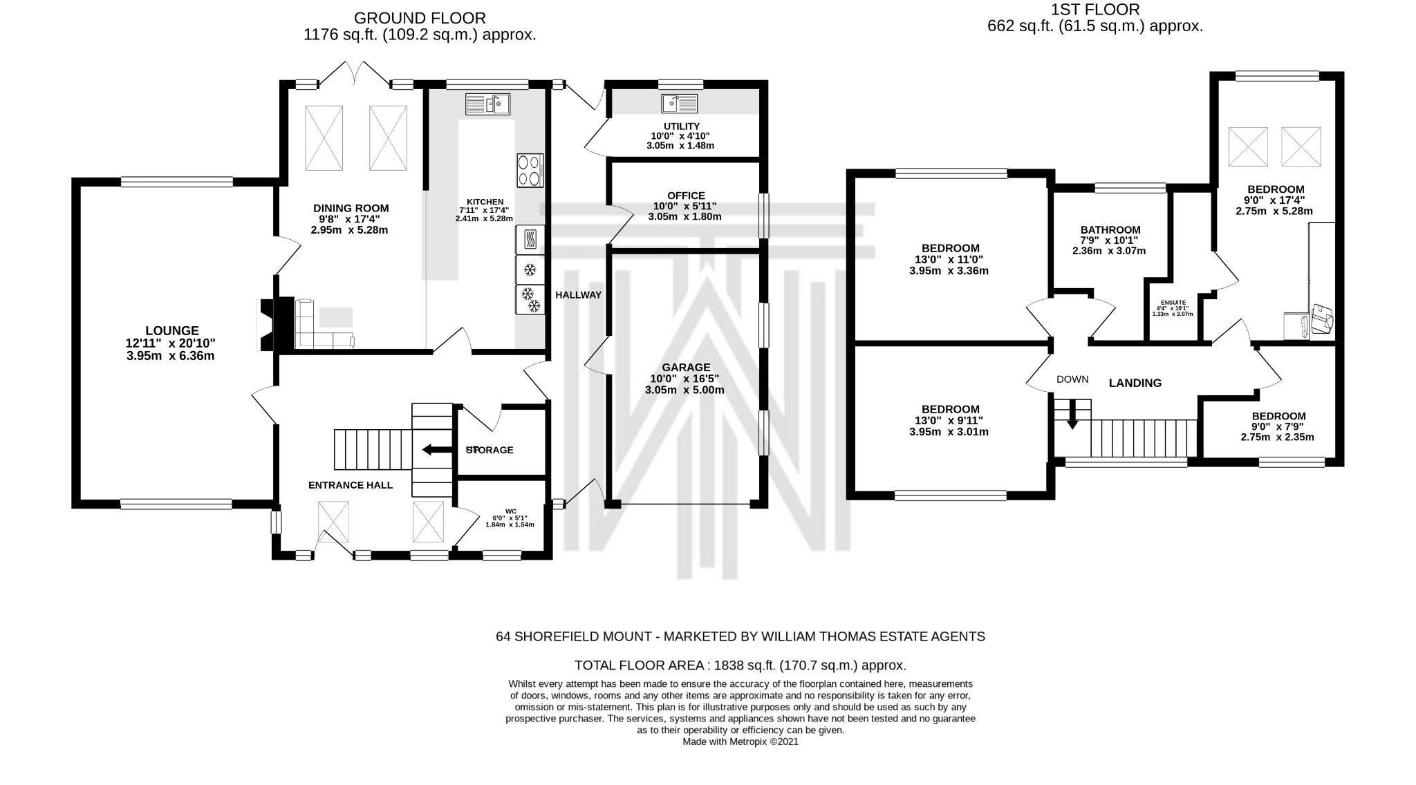 4 bedroom detached house SSTC in Bolton - Floorplan 1