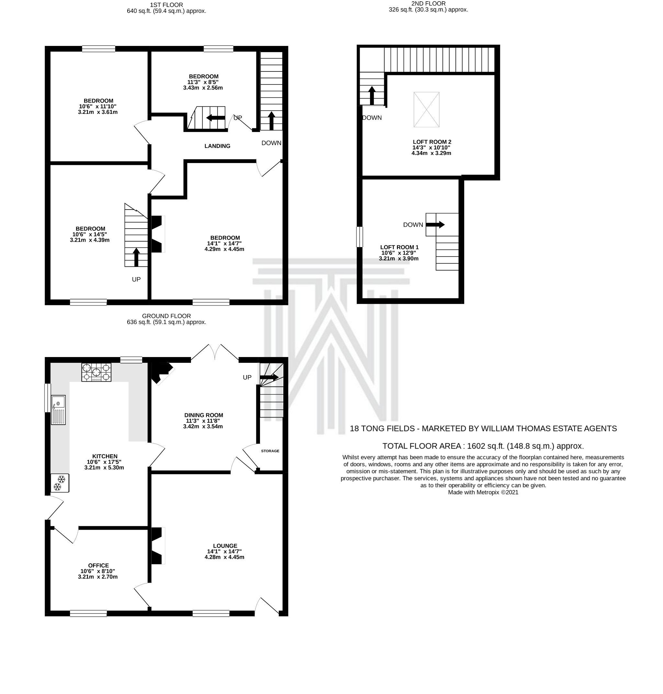 3 bedroom end terraced house SSTC in Bolton - Floorplan 1