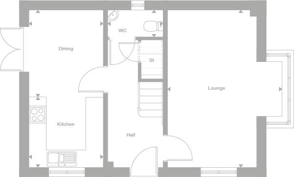 3 bedroom detached house For Sale in Warton - Ground Floor
