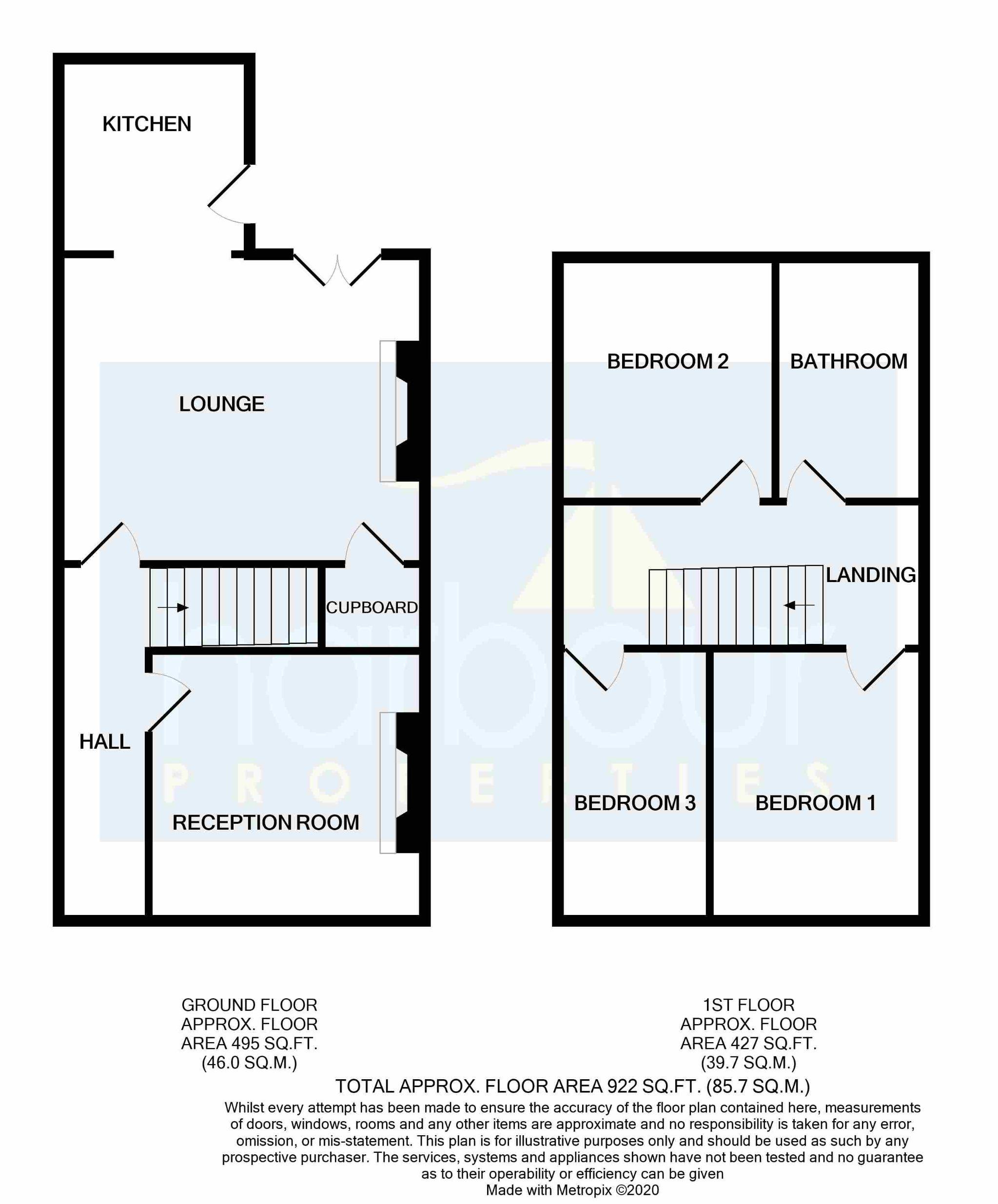 3 bedroom semi-detached house Sold STC in Preston - Floorplan 1