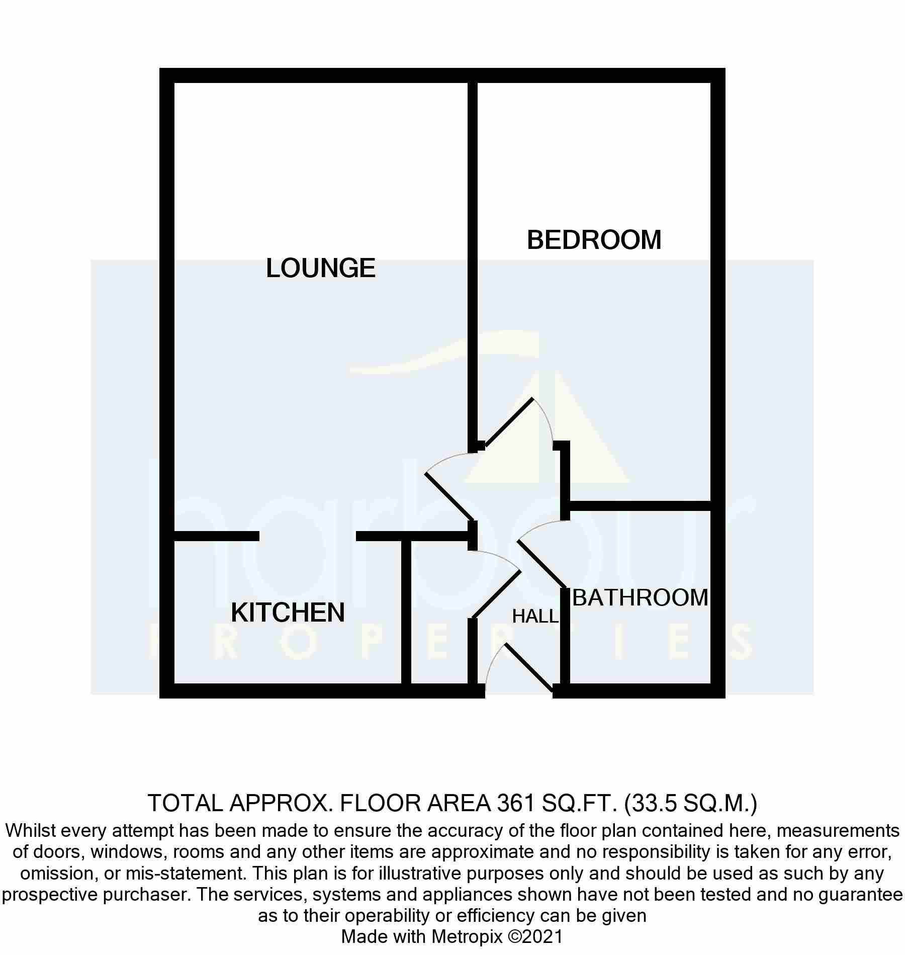 1 bedroom apartment flat/apartment Sold STC in Preston - Floorplan 1