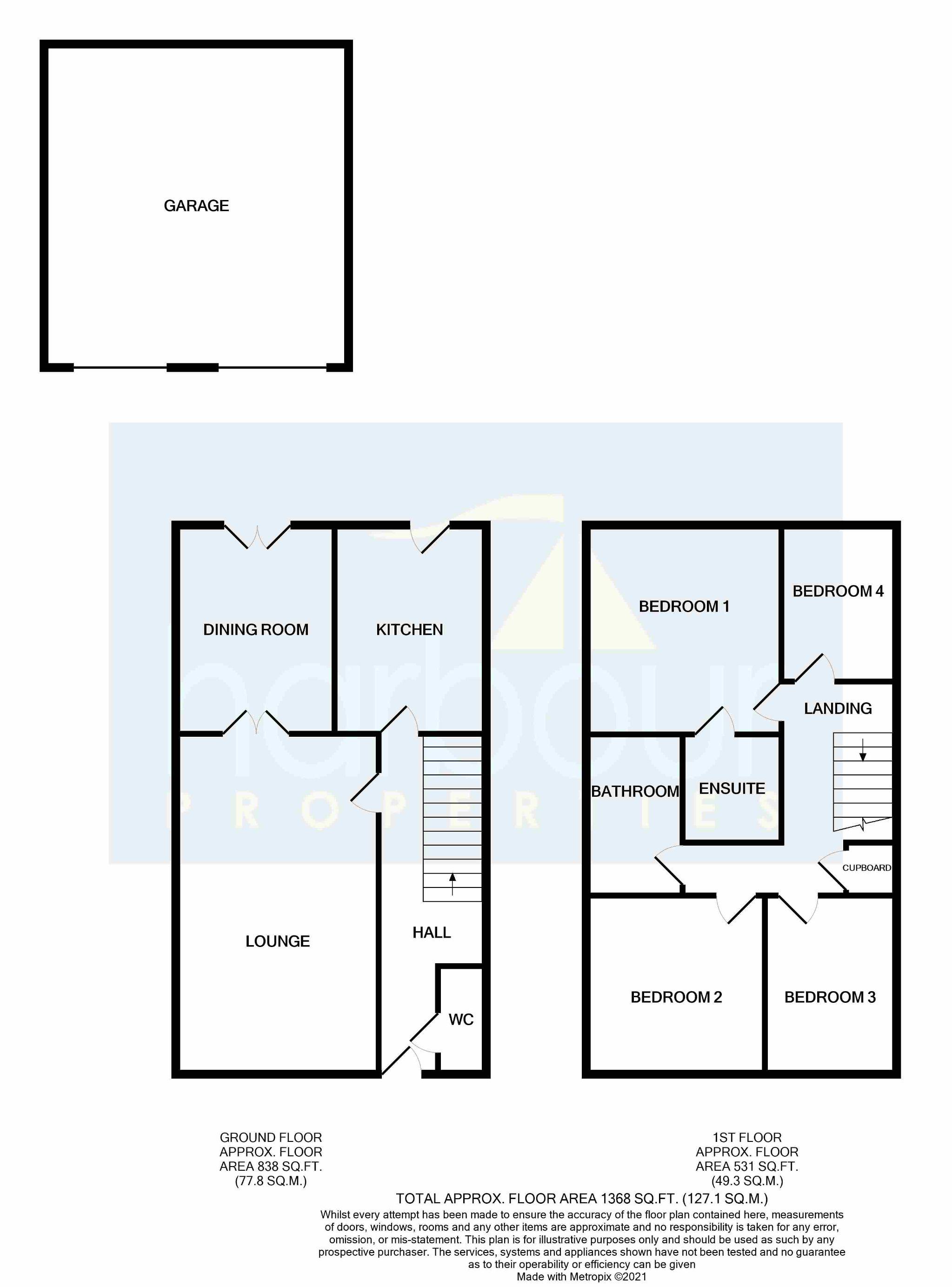 4 bedroom detached house Sold STC in Preston - Floorplan 1