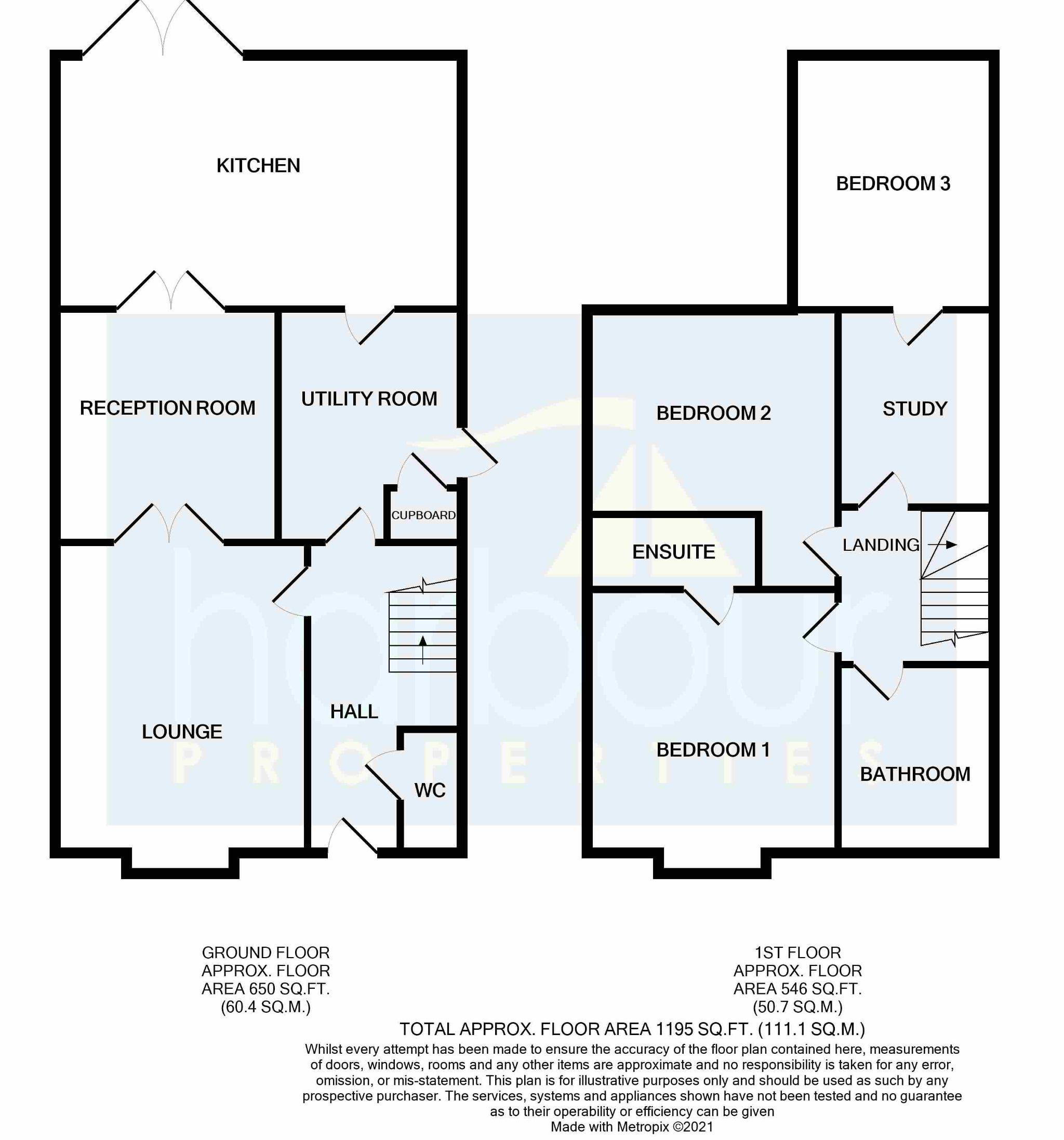 3 bedroom detached house Sold STC in Preston - Floorplan 1
