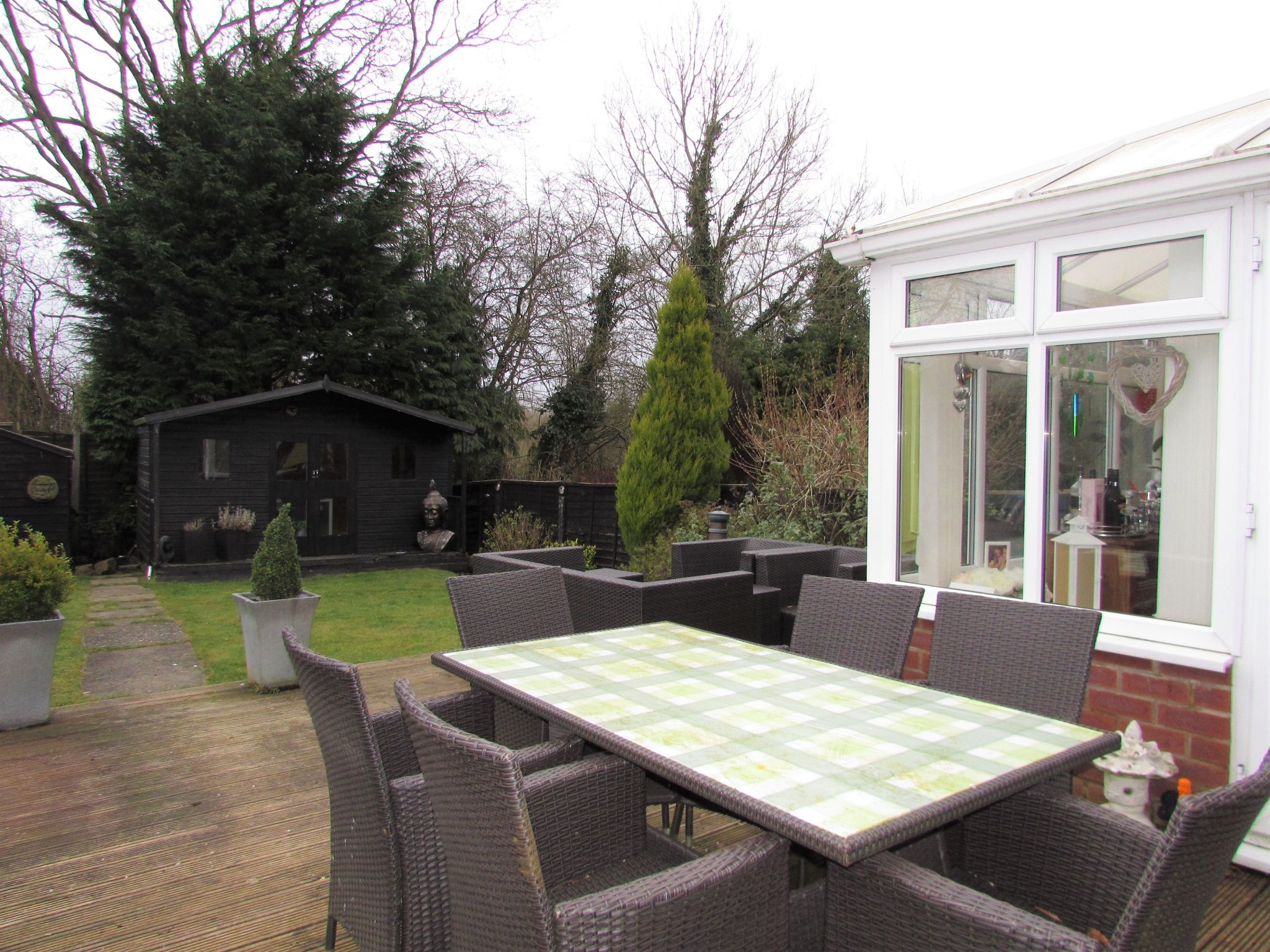 3 Bedroom Semi-detached House For Sale - Rear Garden Decking