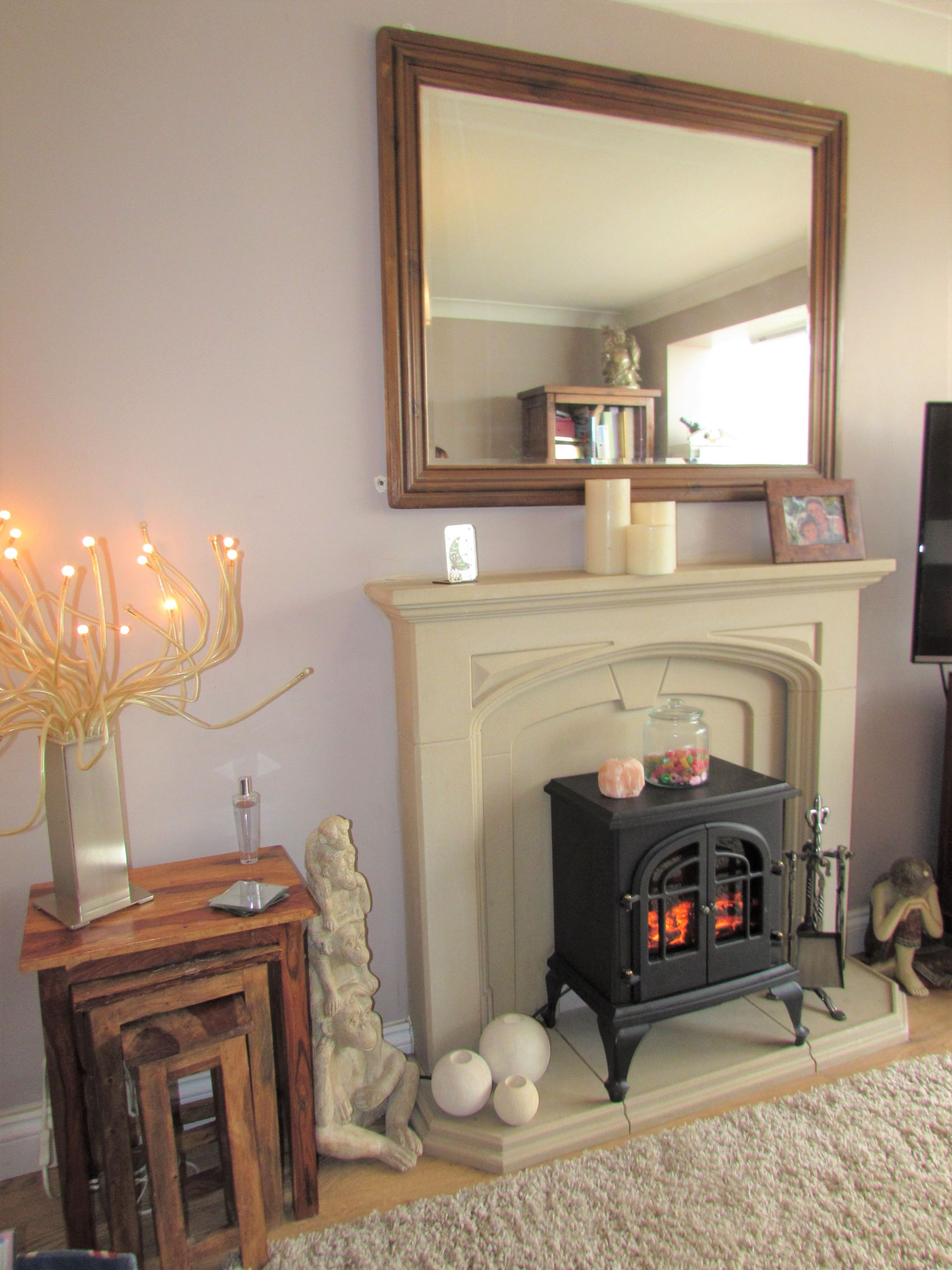 3 Bedroom Semi-detached House For Sale - Feature Fireplace Rear Lounge